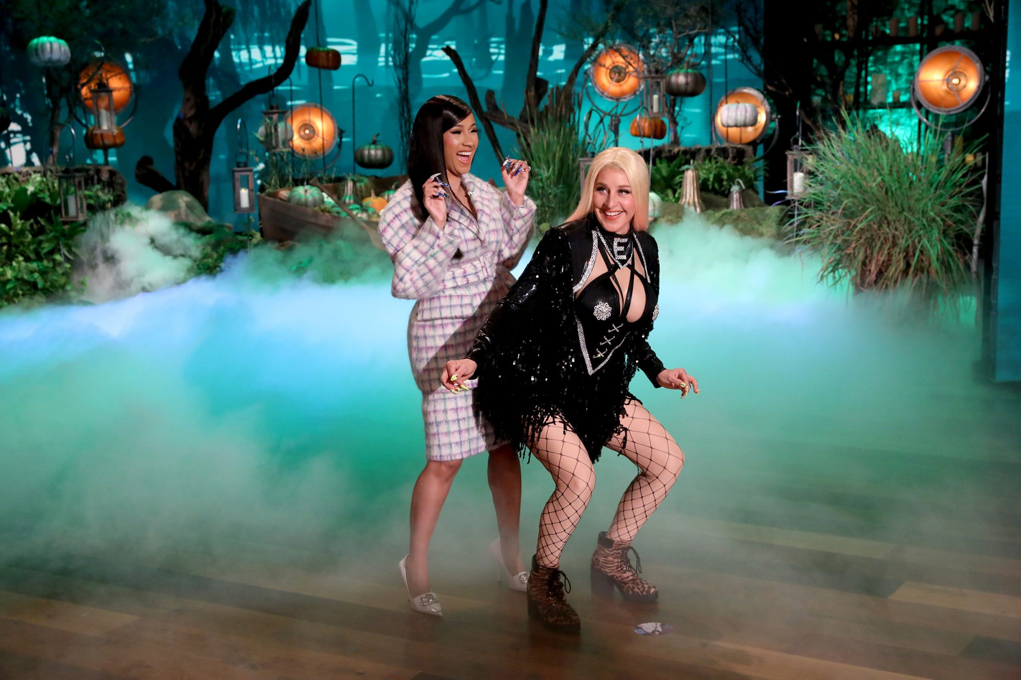 Ellen DeGeneres transforms into Cardi E, inspired by Cardi B