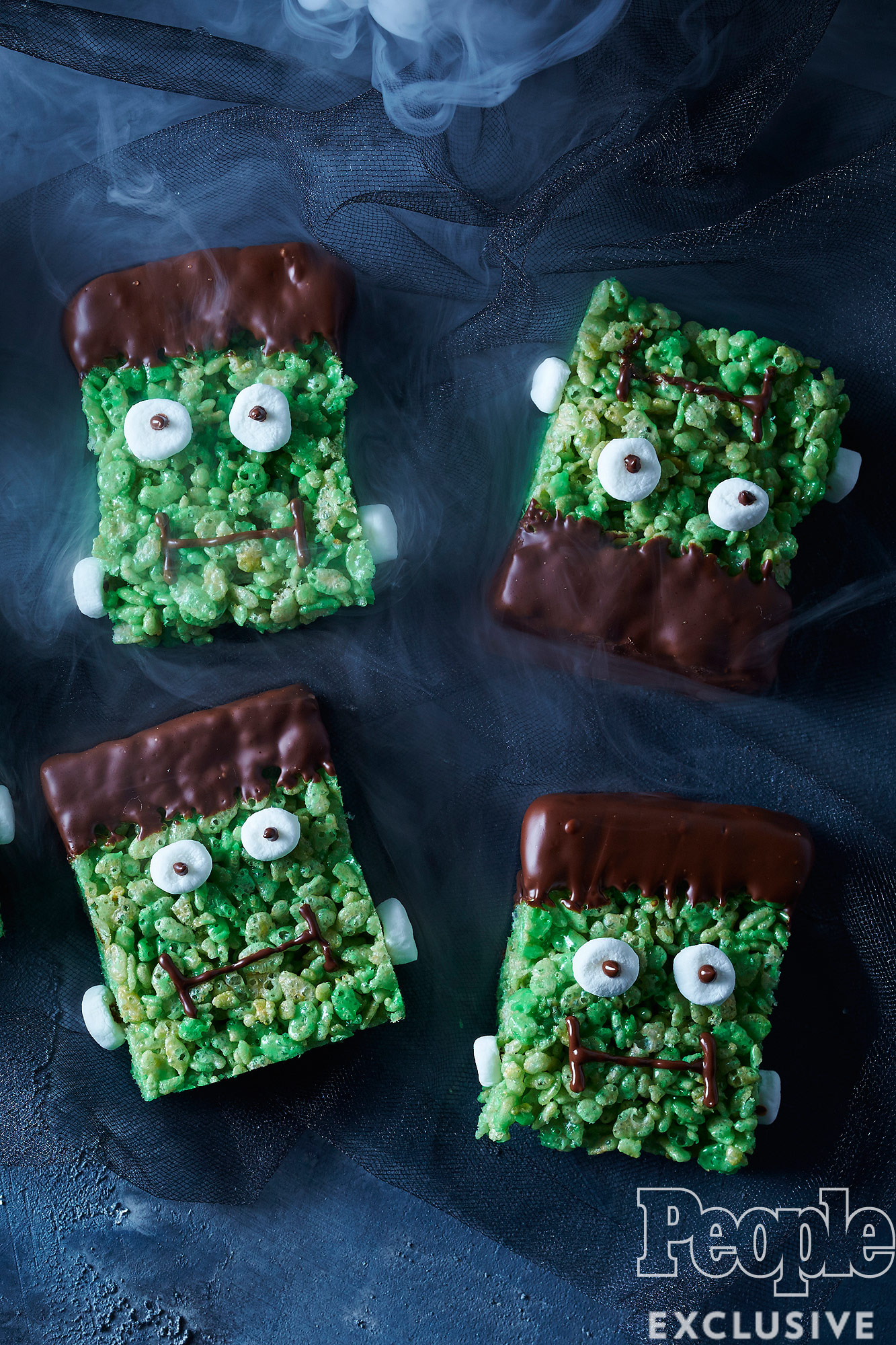 MINT CHOCOLATE FRANKENSTEIN BARS