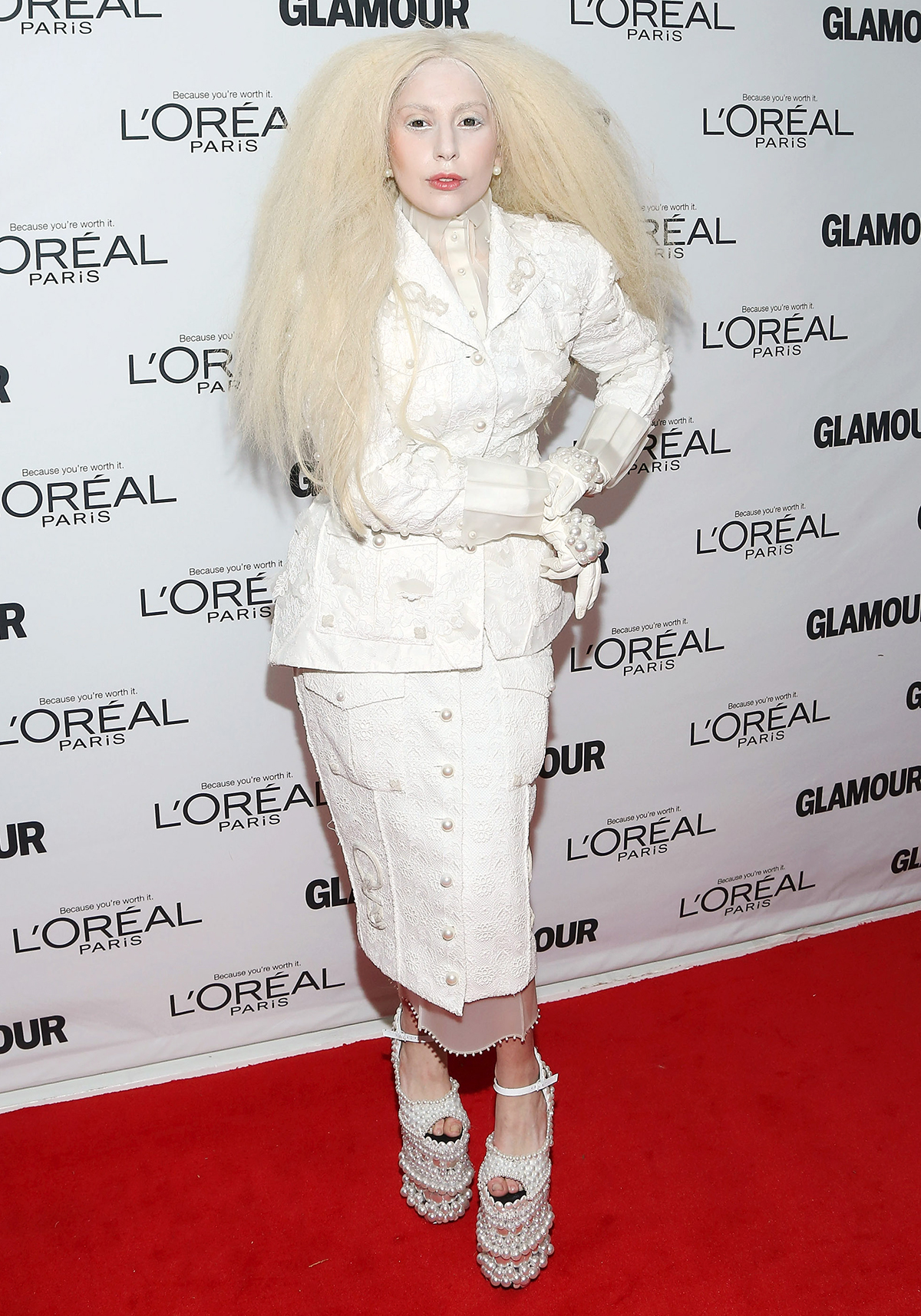Or This All-White-Everything Look from the 2013 Glamour Women of the Year Award