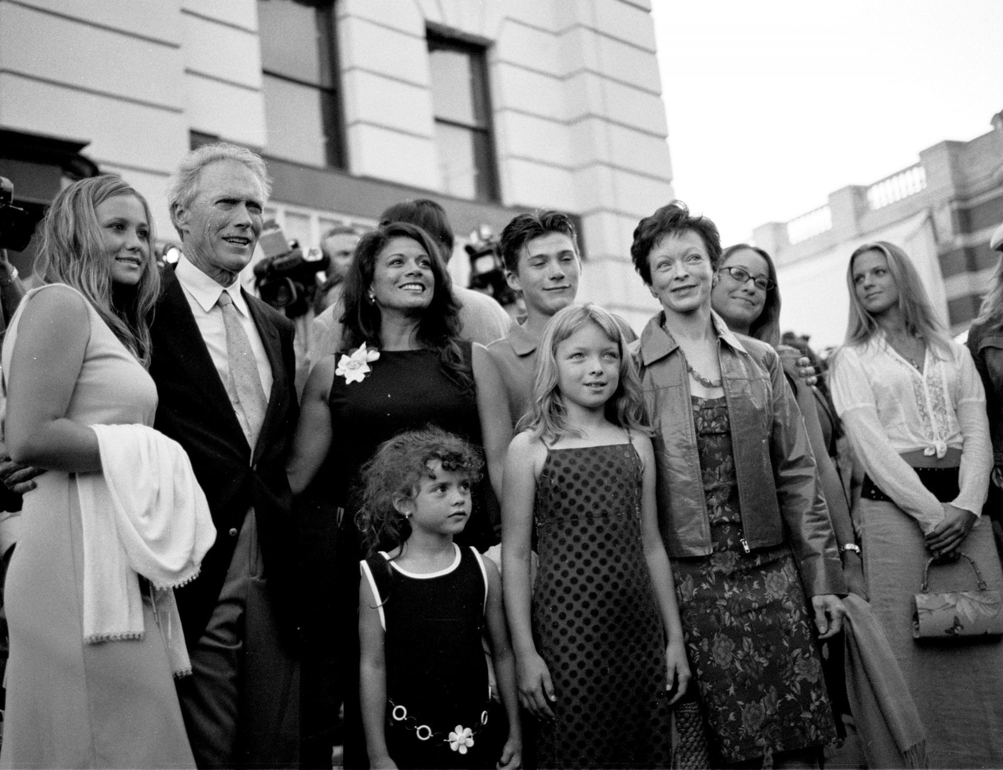 Clint Eastwood and family
