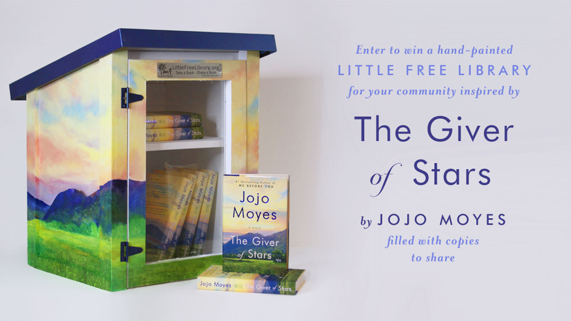 Jojo Moyes Gives Away Little Library