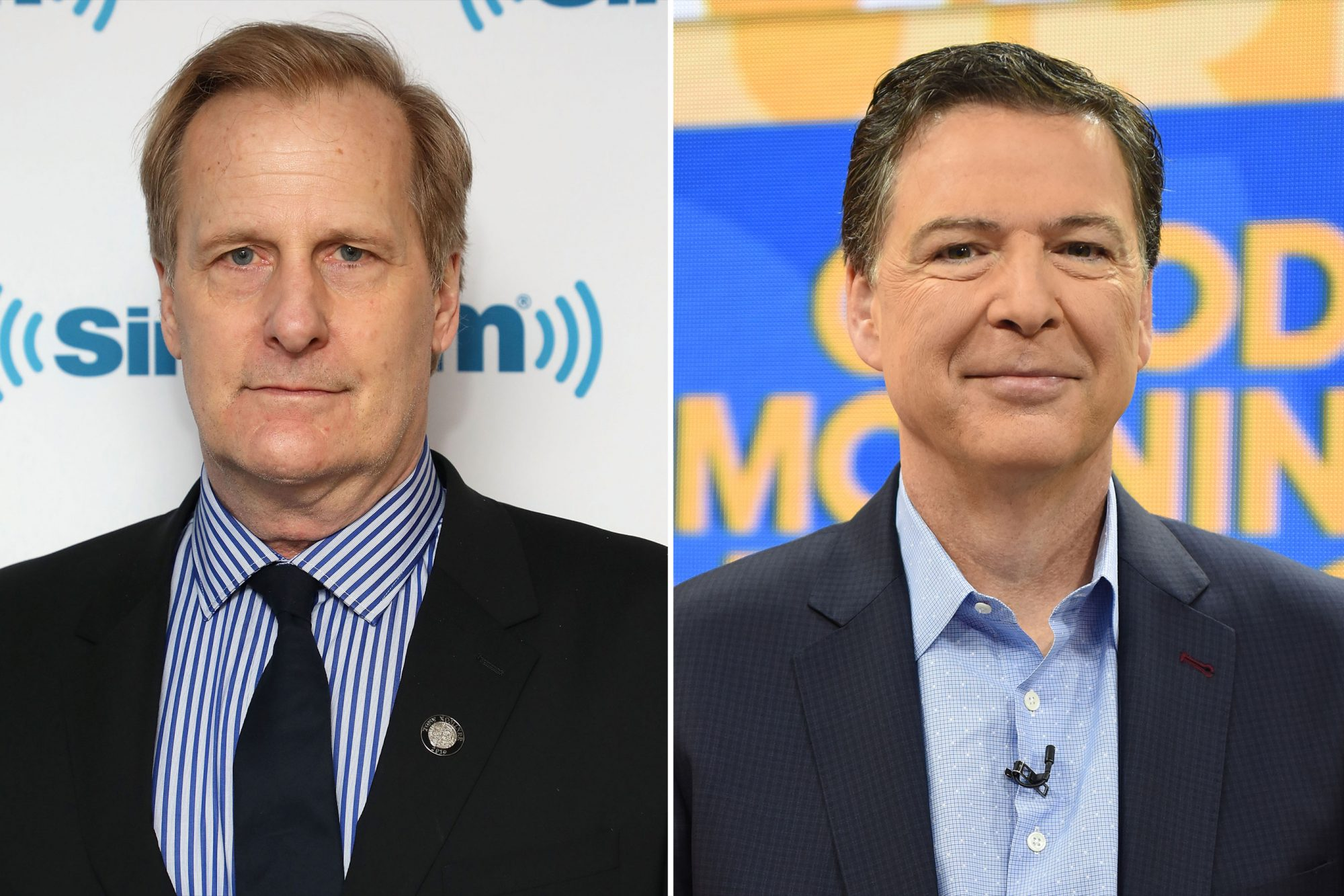 Jeff Daniels and James Comey