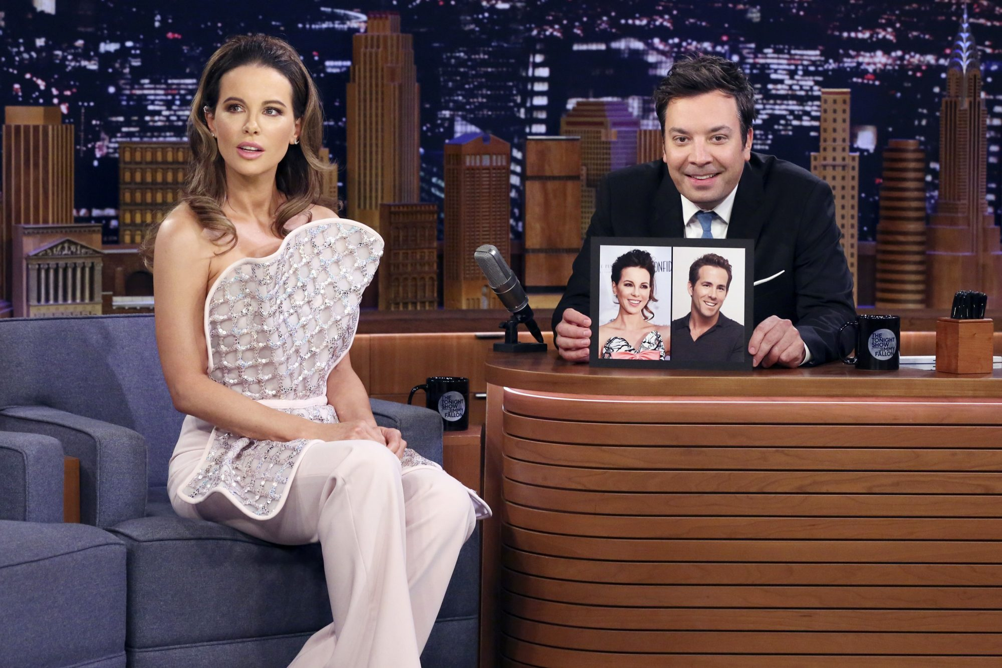 Kate Beckinsale THE TONIGHT SHOW STARRING JIMMY FALLON