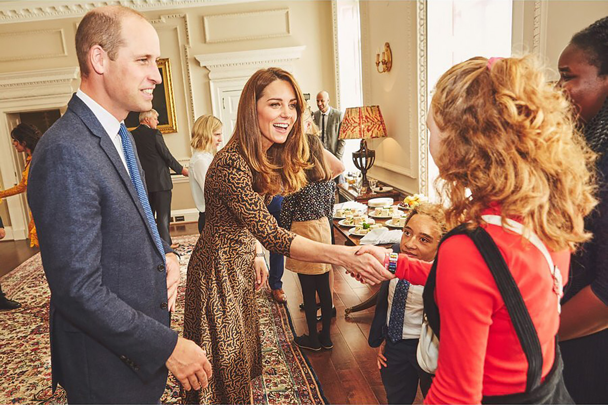 Radio 1's Teen Heroes of 2019 visited The Duke and Duchess of Cambridge at Kensington Palace earlier this month, along with chart-topping superstar Camila Cabello and BBC Radio 1 DJs Clara Amfo and Greg James. Catherine, Duchess of Cambridge and Prince William https://www.instagram.com/p/B36mib_lo59/ Credit: Kensington Palace/Instagram