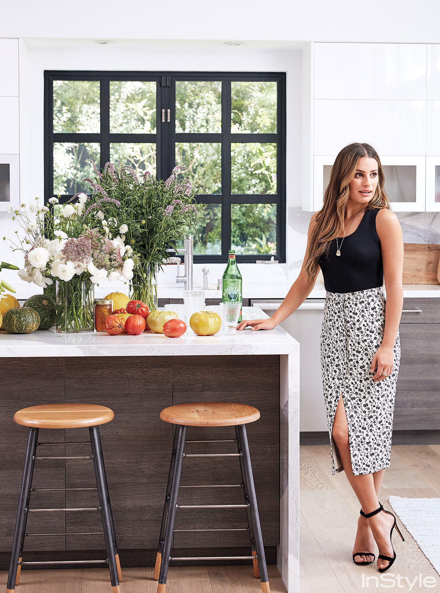 Lea Michele's home from a special issue of InStyle