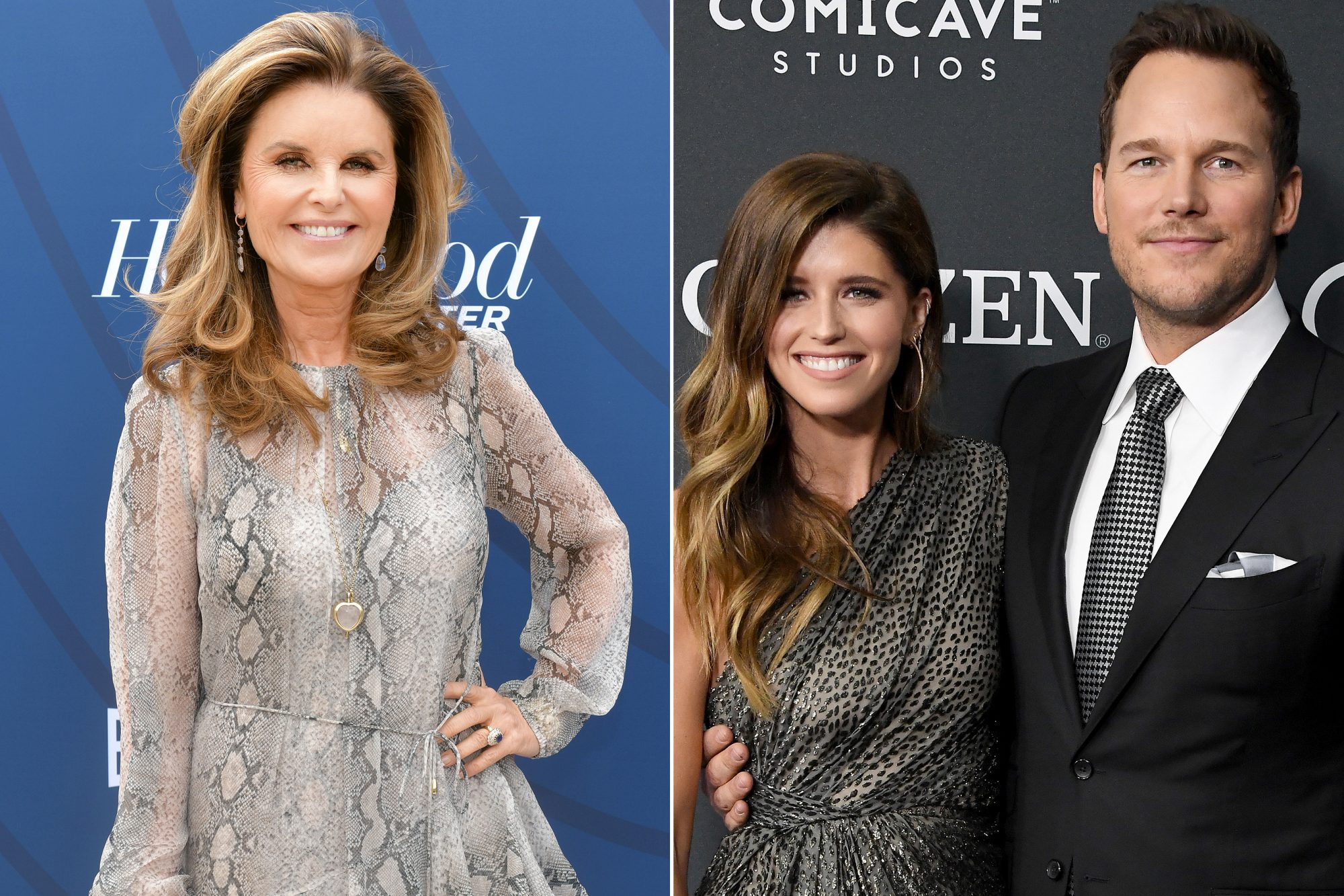 Maria Shriver, Katherine Schwarzenegger and Chris Pratt