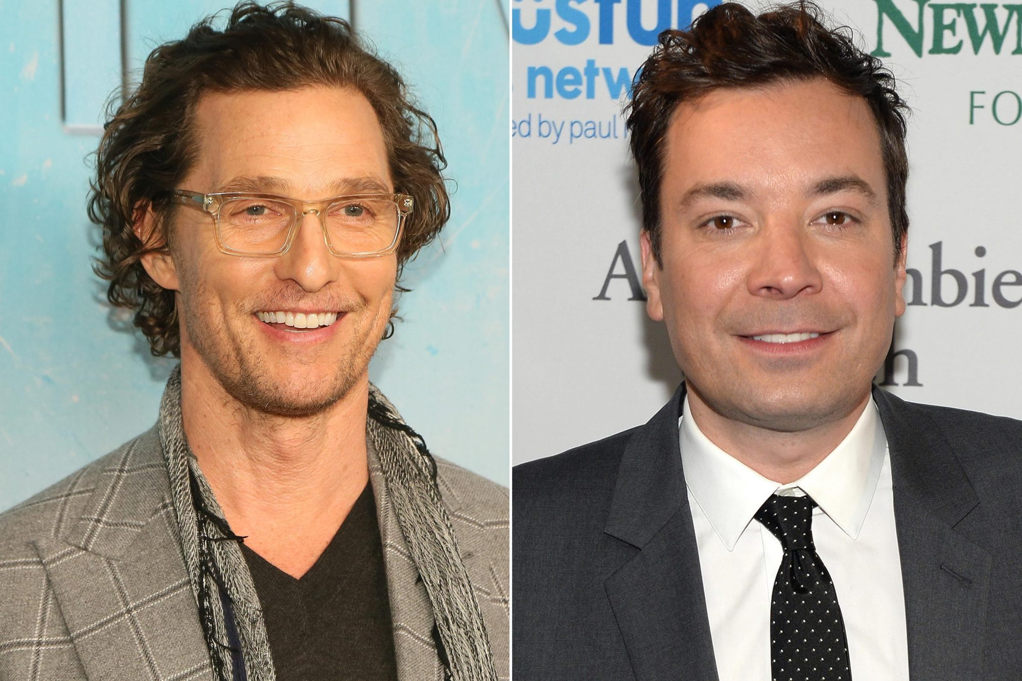 Matthew McConaughey and Jimmy Fallon
