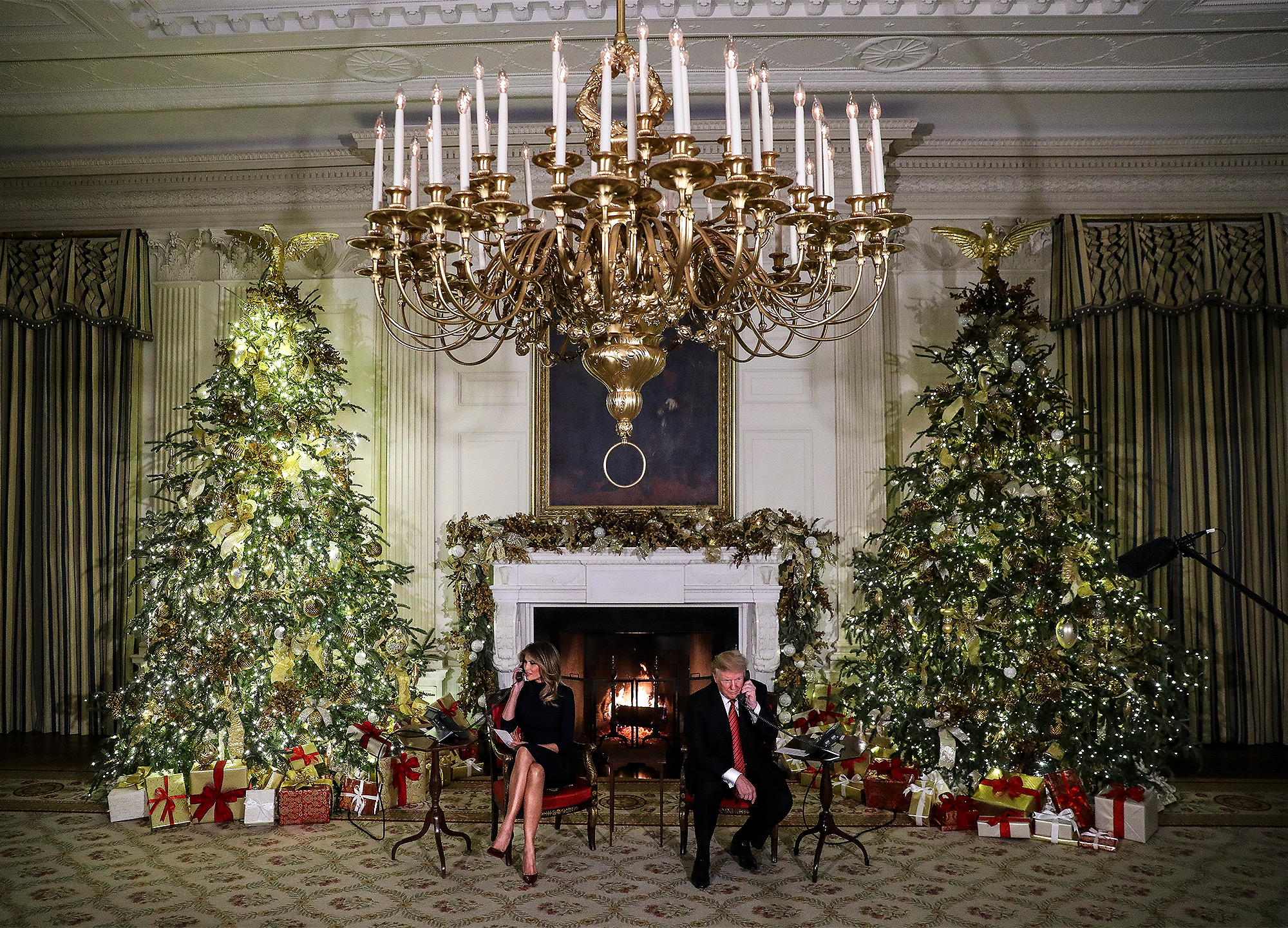 The President and First Lady will participate in the NORAD Santa tracker phone calls