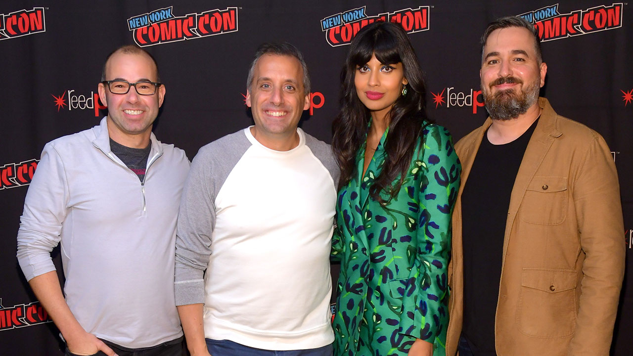 Jameela Jamil and the 'Impractical Jokers' Rate Getting Stuck in an Elevator on 'The Misery Index' Scale