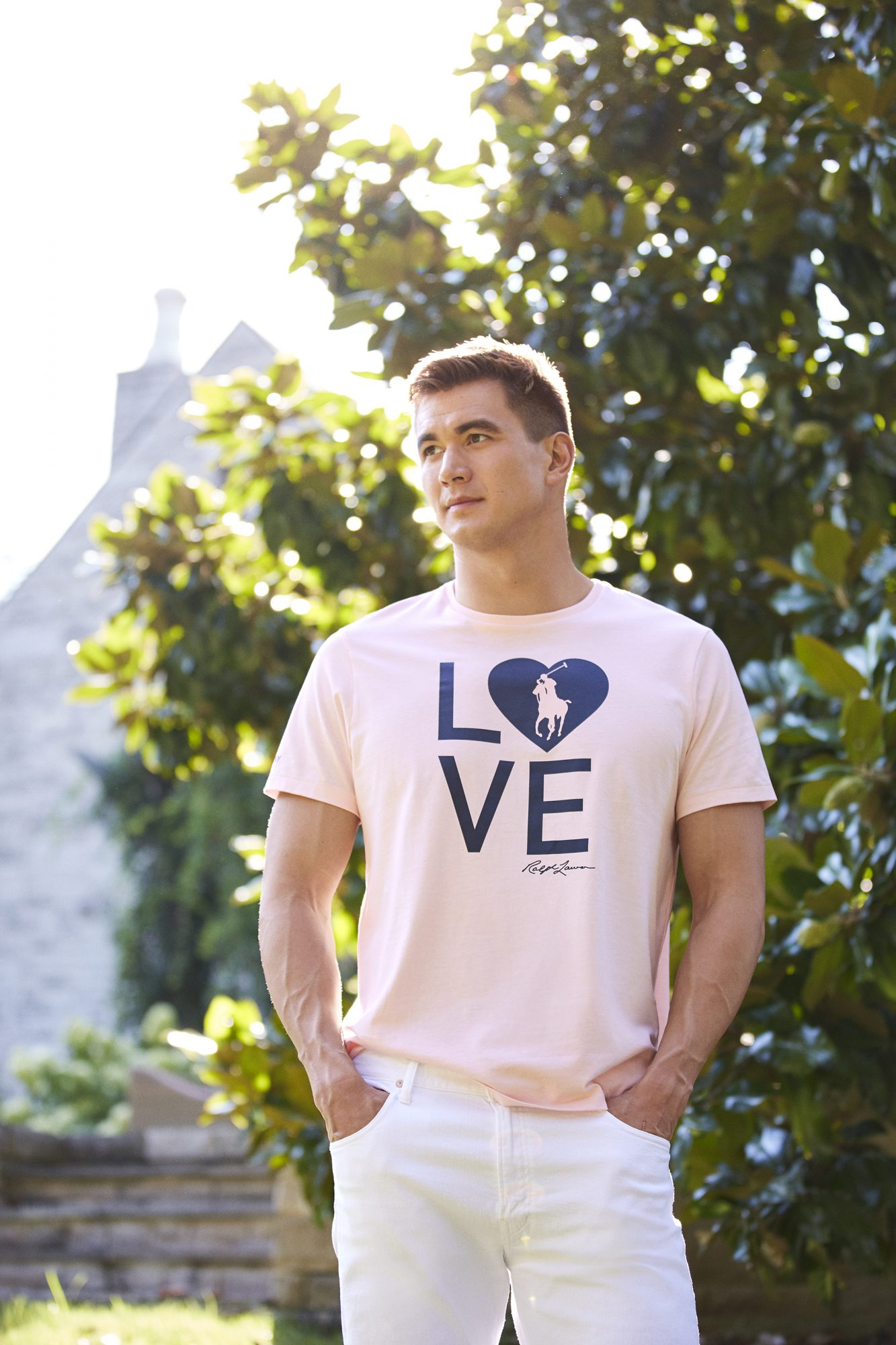 "Nathan Adrian stars in ""Together in Pink"" Ralph Lauren Campaign"