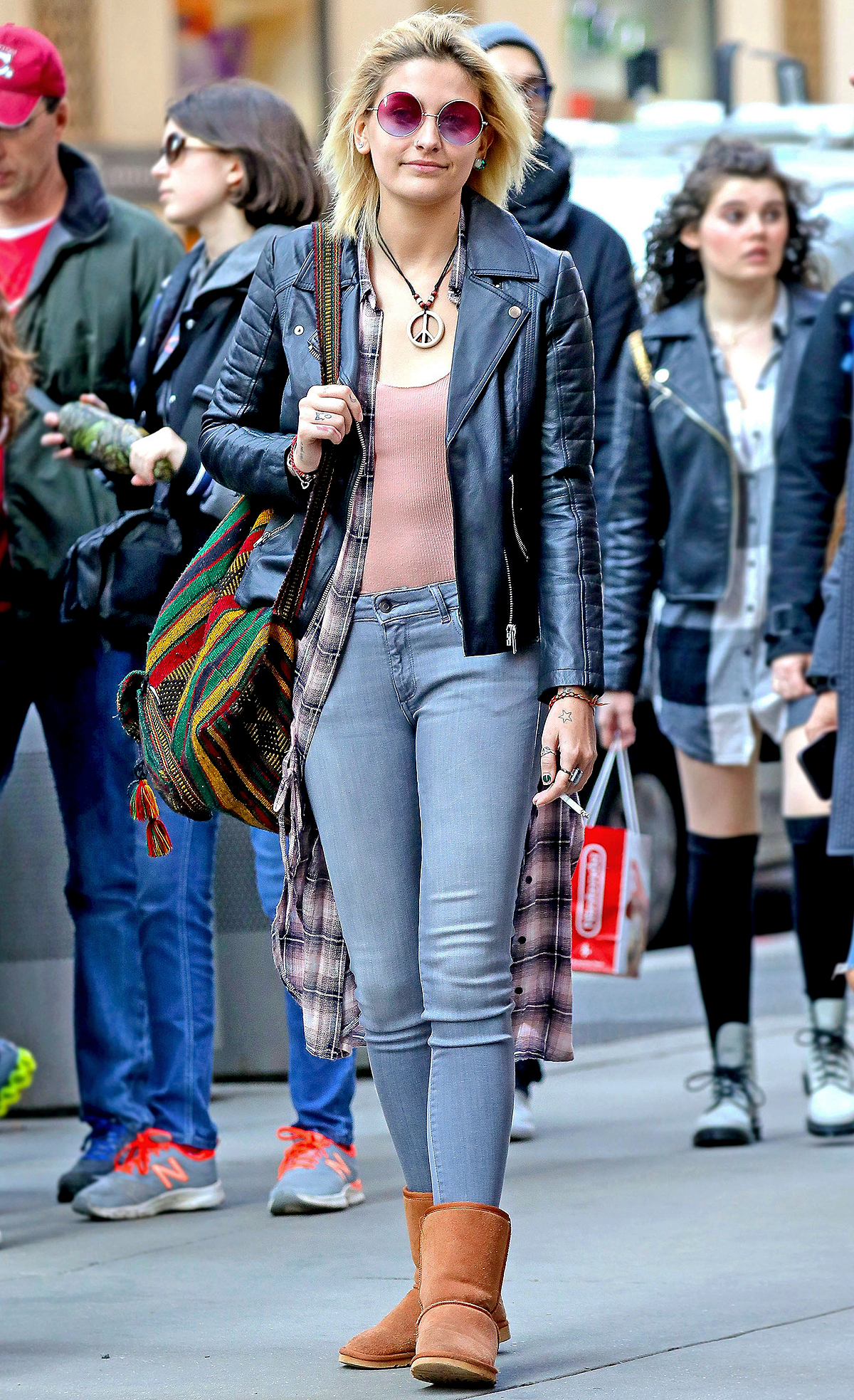 Paris Jackson spotted strolling around in Midtown with friends in New York City