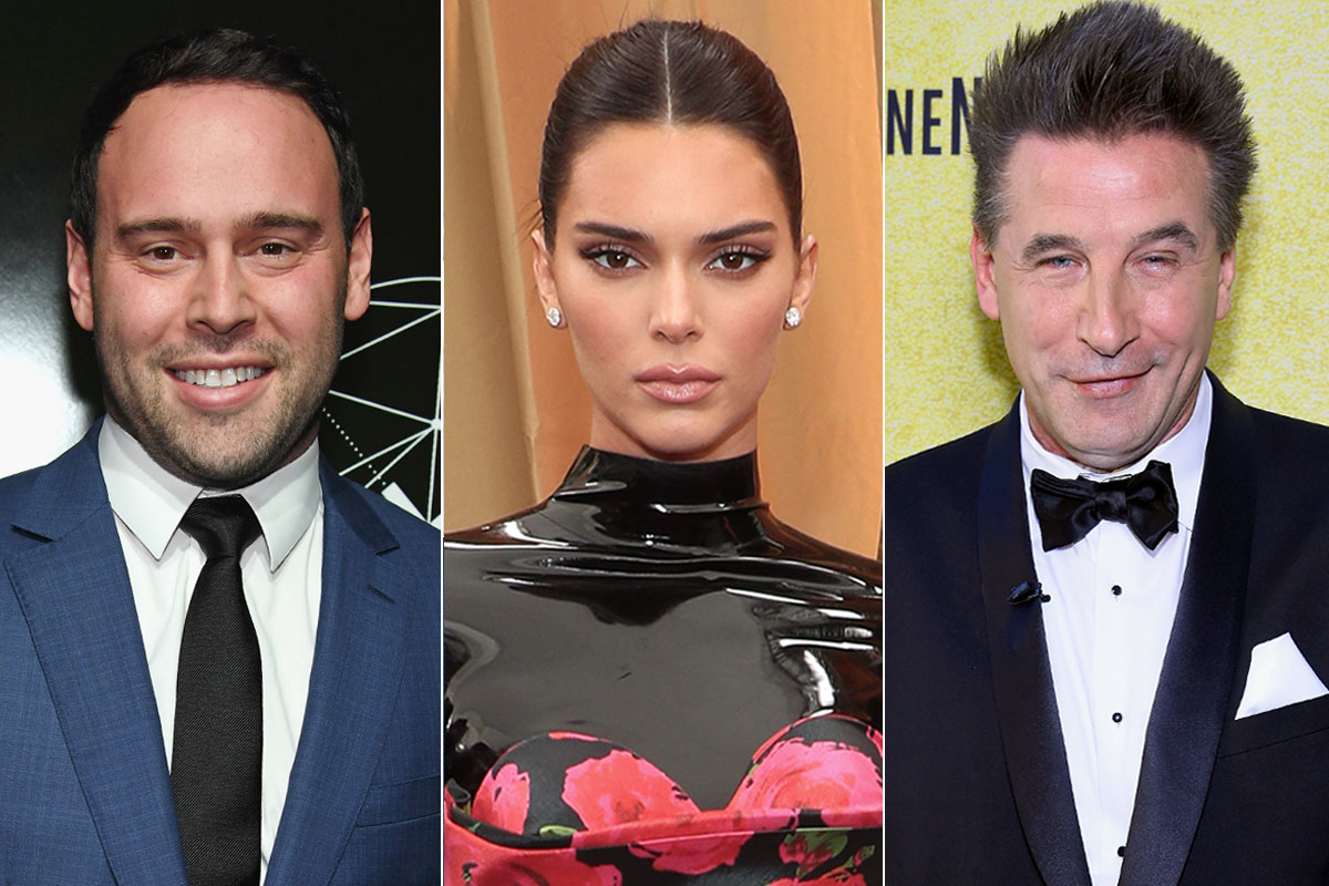 Scooter Braun and Kendall jenner and Billy baldwin