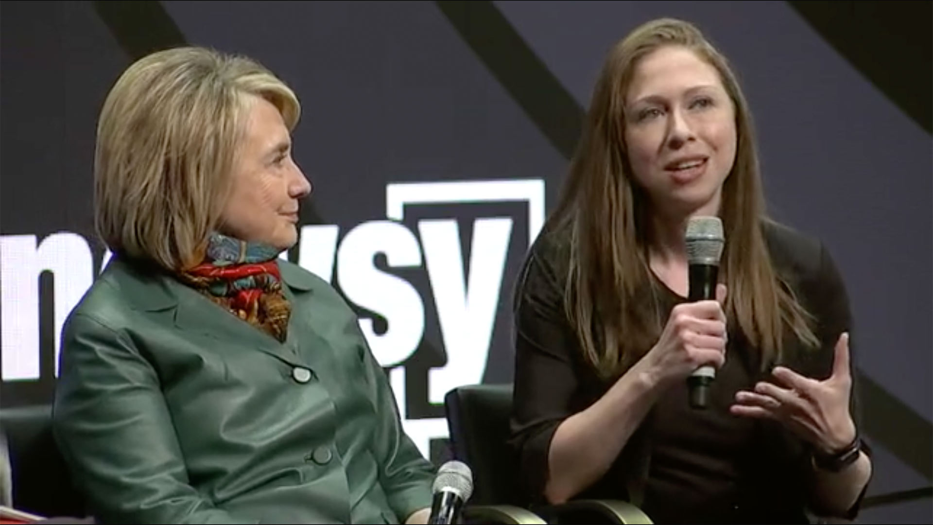 Hilary and Chelsea Clinton