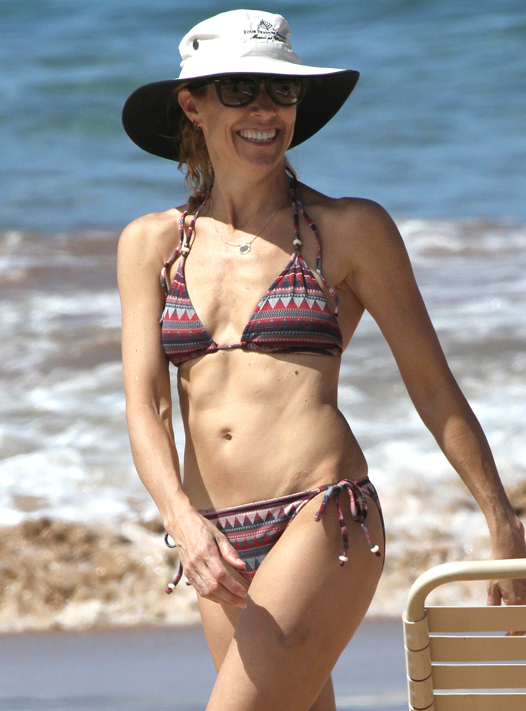 EXCLUSIVE: Sheryl Crow in a bikini on the beach in Hawaii