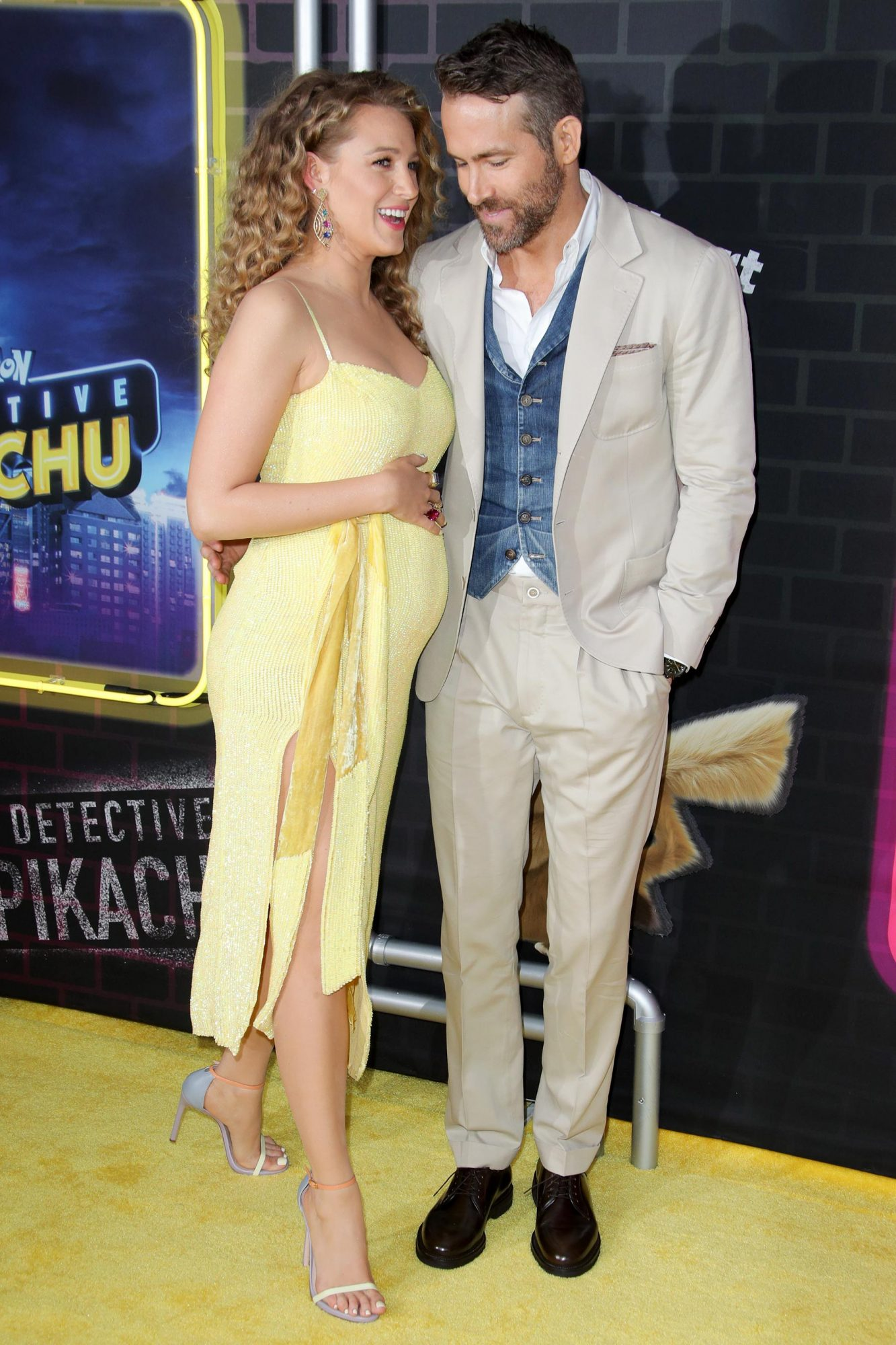 Mandatory Credit: Photo by Matt Baron/REX/Shutterstock (10227023ao) Blake Lively and Ryan Reynolds 'Pokemon Detective Pikachu' film premiere, Arrivals, New York, USA - 02 May 2019