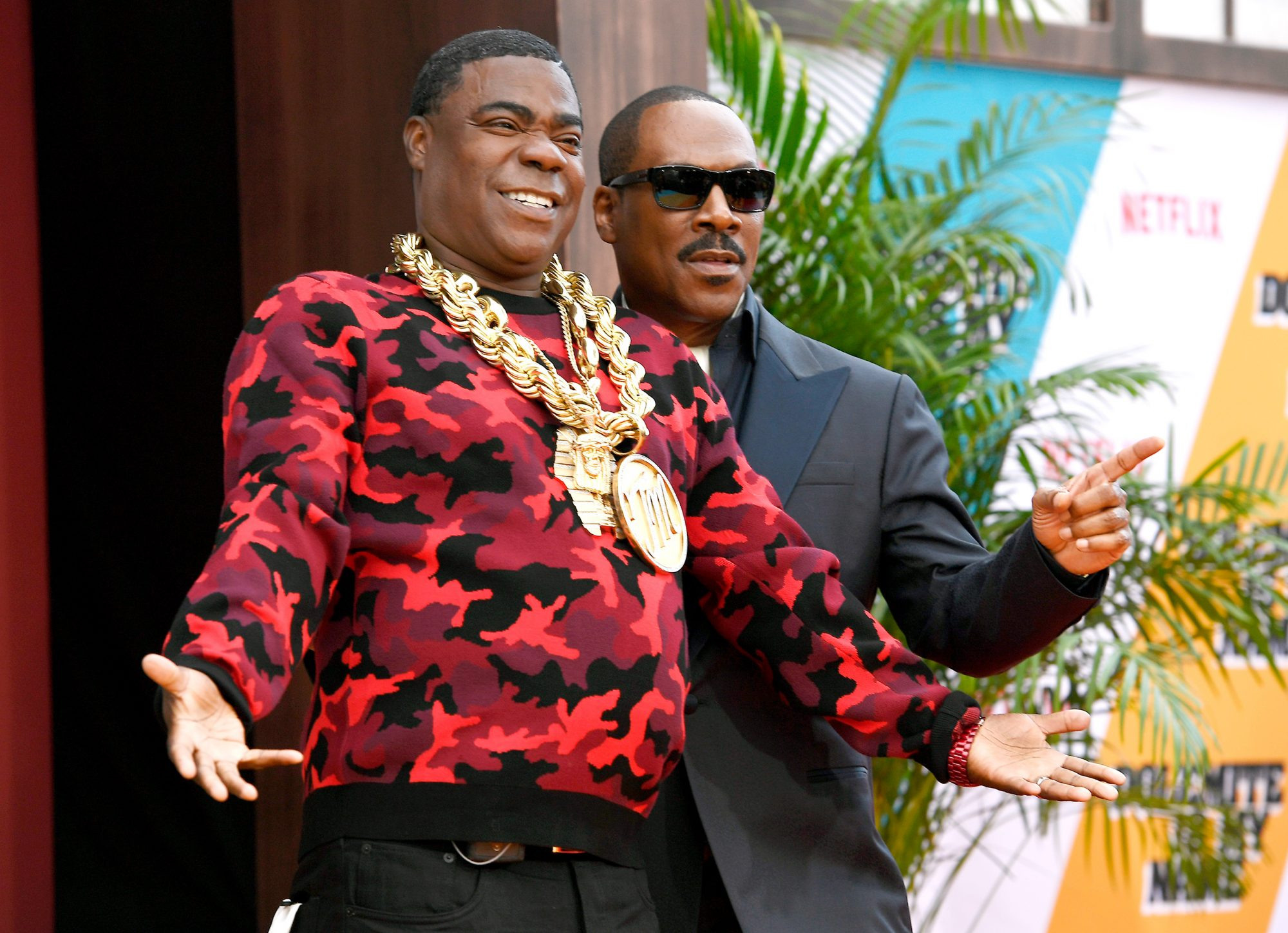 Tracy Morgan and Eddie Murphy attend the LA premiere of