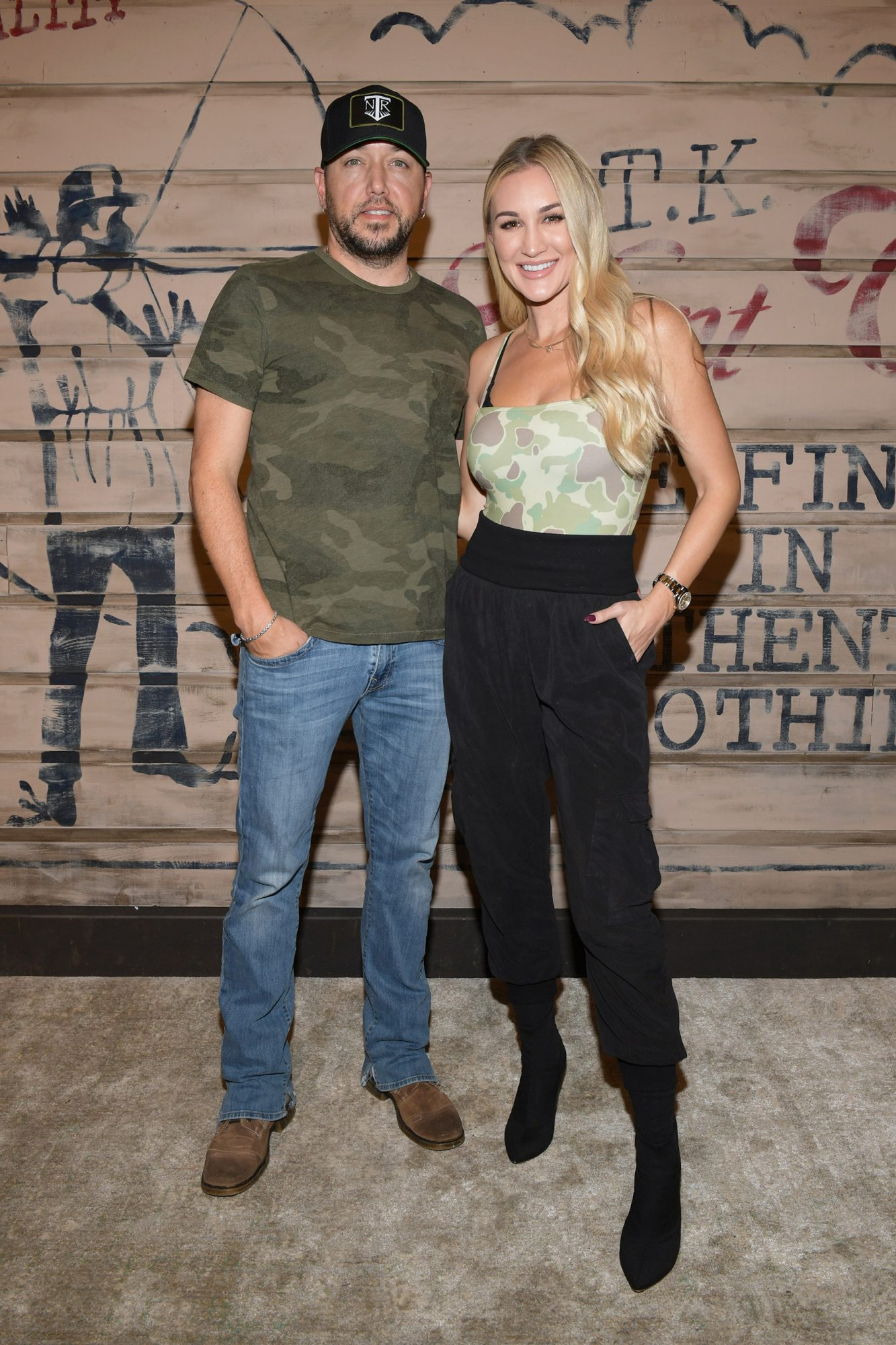 Jason Aldean and Brittany Aldean attend the Tribe Kelley Celebration For Brand New Hunt Club Collection