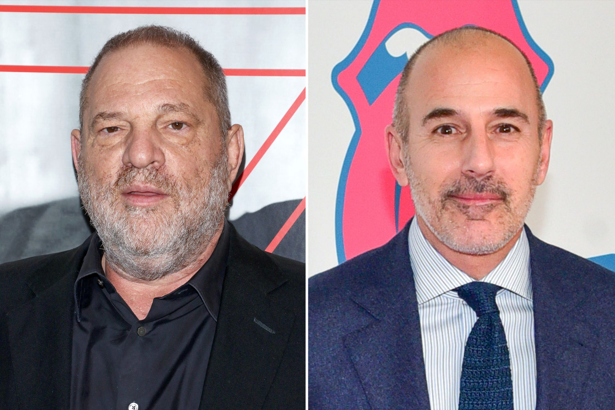 Harvey Weinstein and Matt Lauer