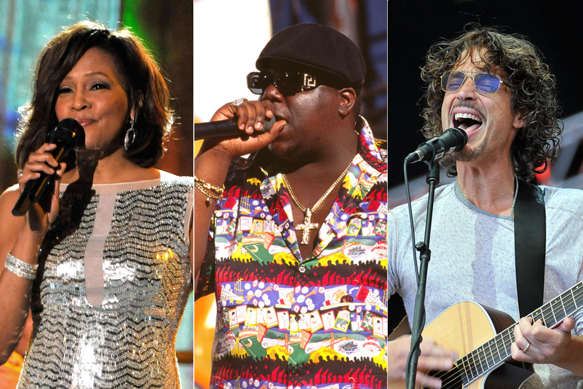 Whitney Houston Biggie Smalls and Chris Cornell