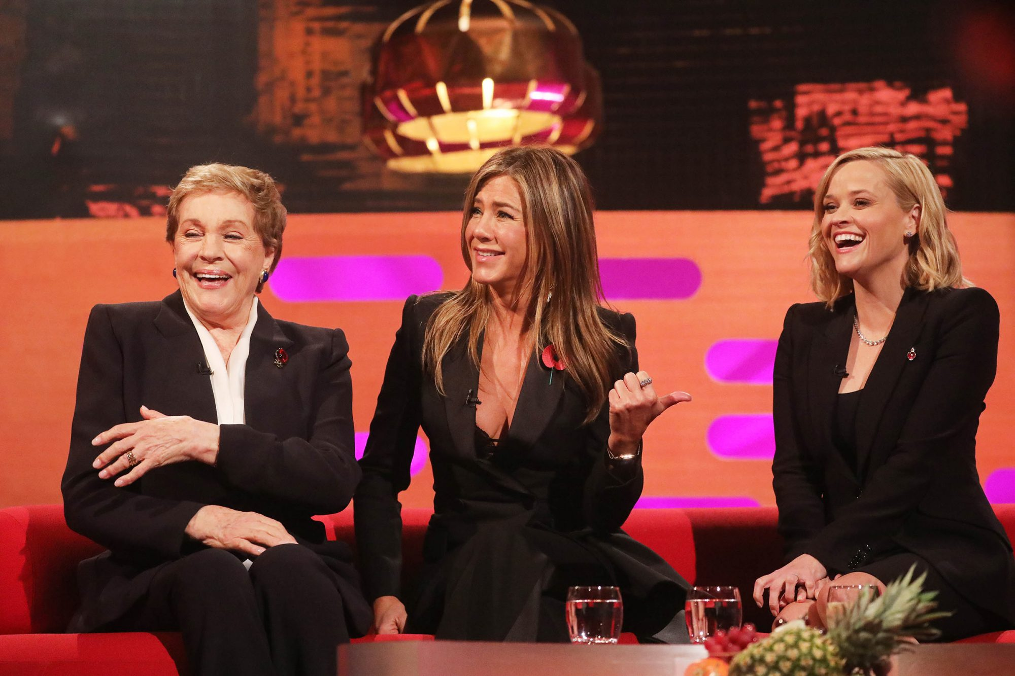 Julie Andrews, Jennifer Aniston Reese Witherspoon