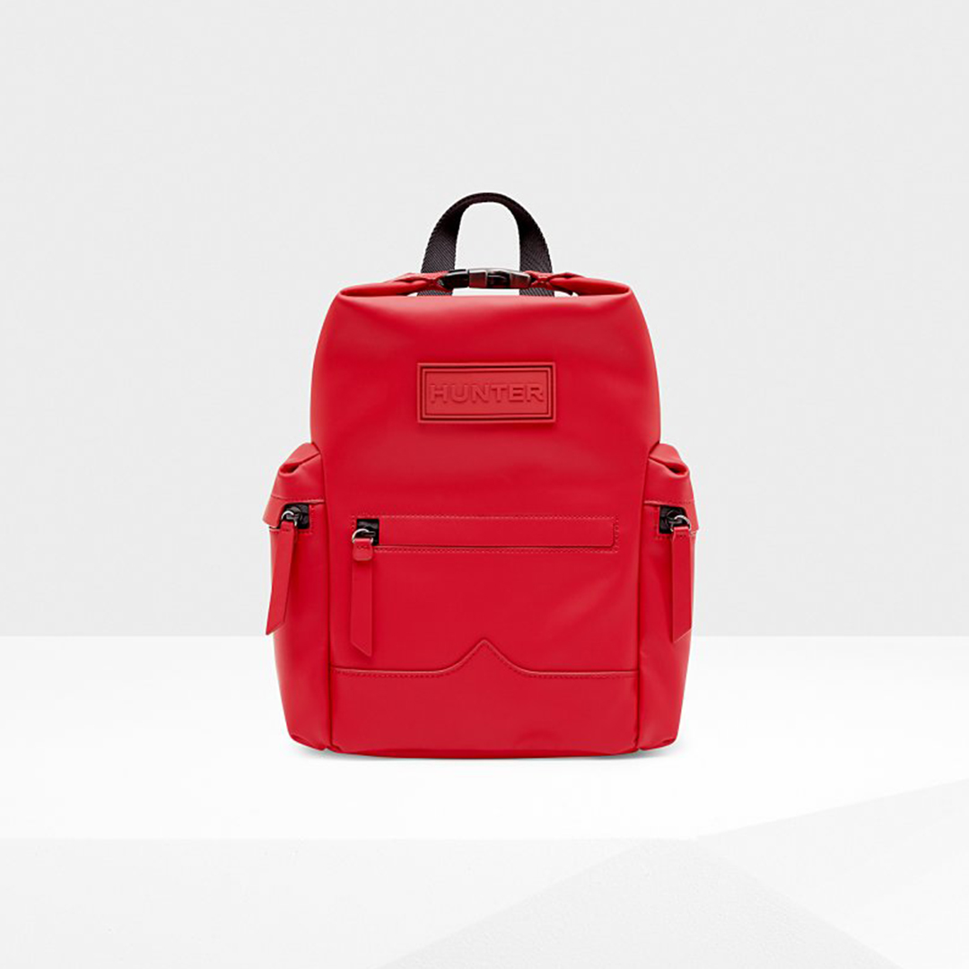 Original Mini Top Clip Backpack - Rubberized Leather from Hunter