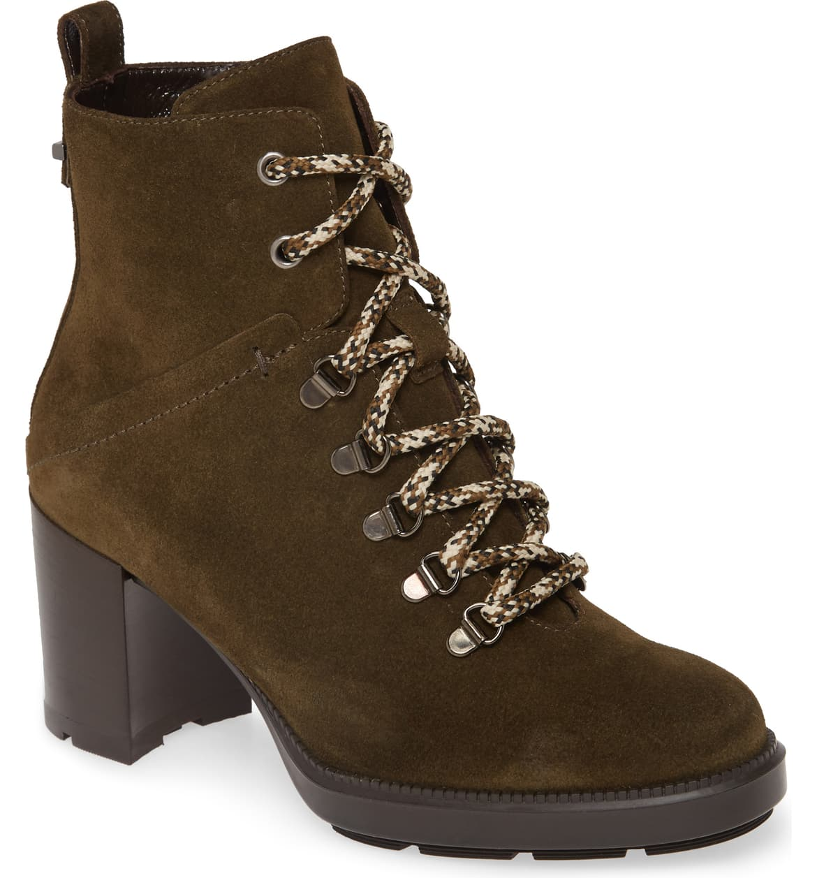 aquatalia heeled hiking boots olive green suede nordstrom