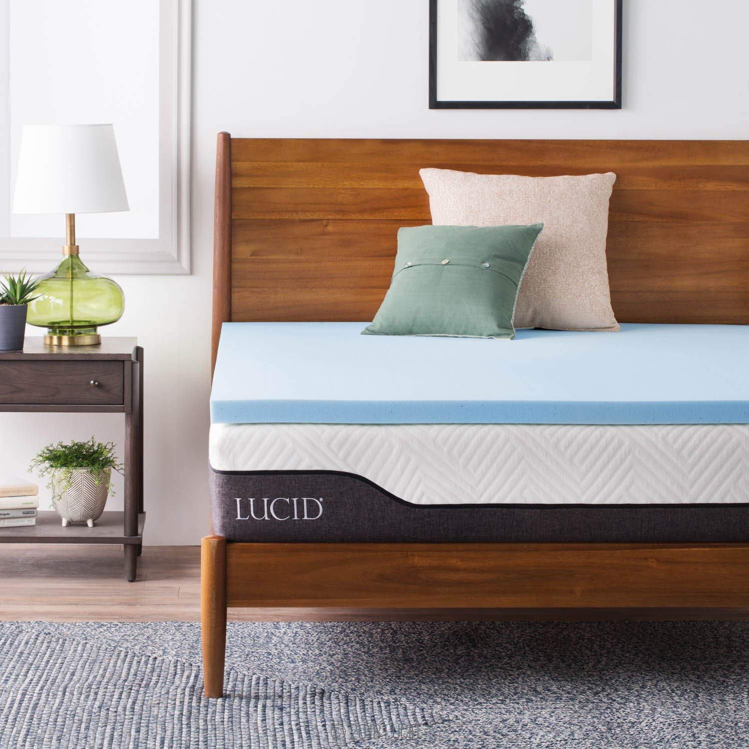 Lucid Two-Inch Gel Memory Foam Mattress Topper