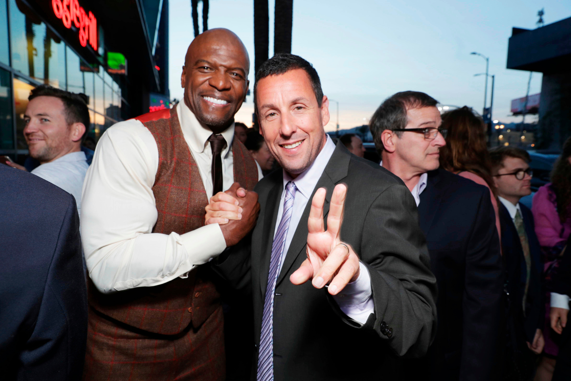 Terry crews and Adam sandler
