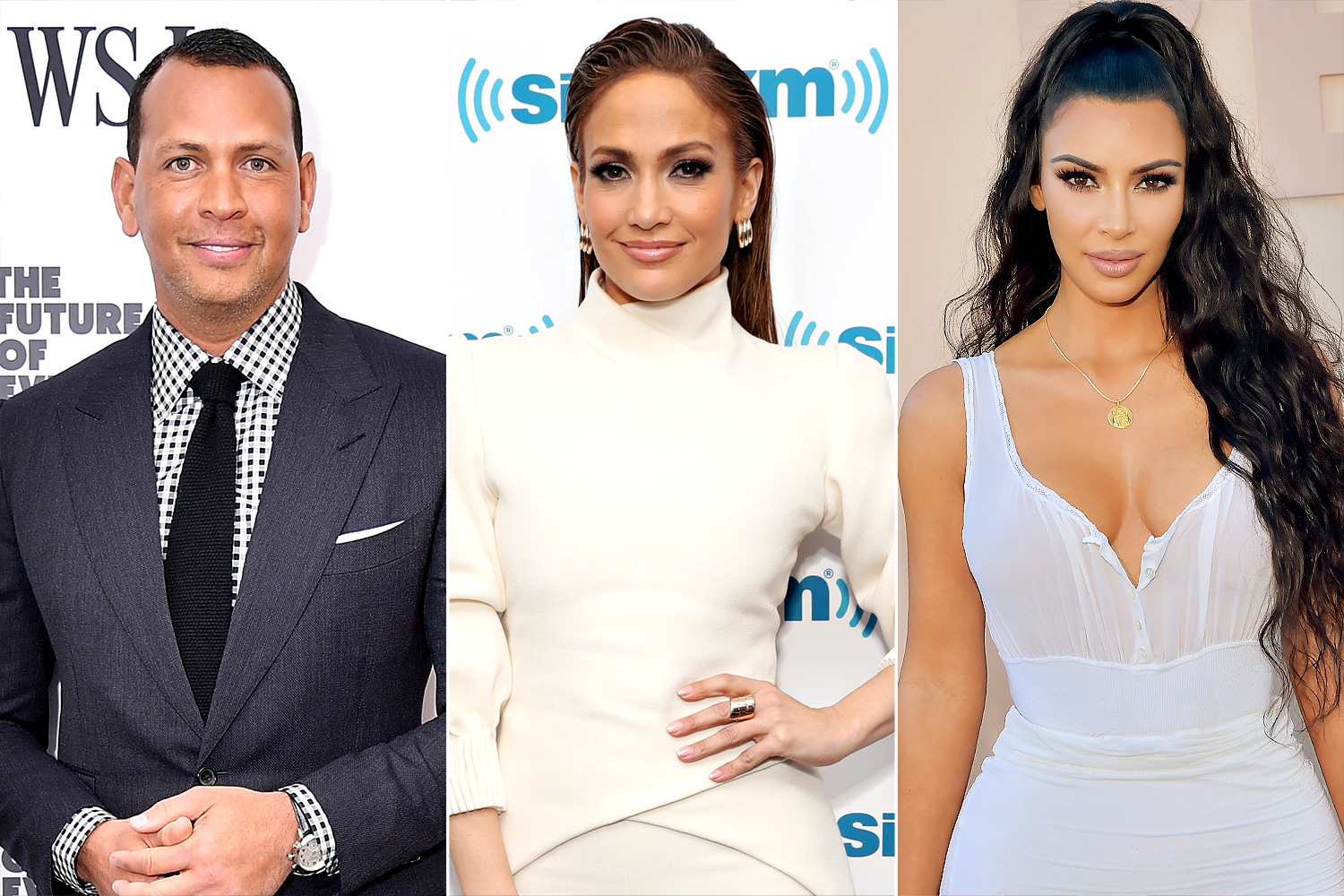 Alex Rodriguez; Jennifer Lopez and Kim Kardashian