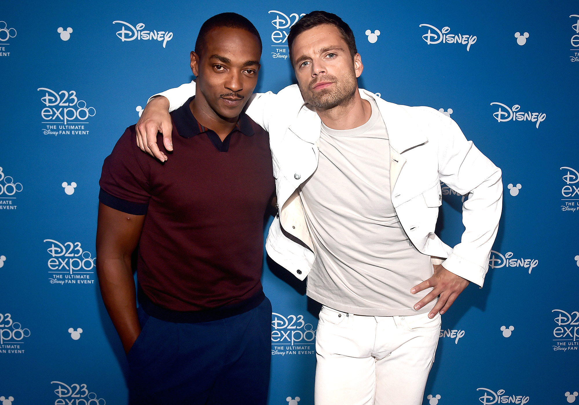 Anthony Mackie and Sebastian Stan of 'The Falcon and The Winter Soldier' took part today in the Disney+ Showcase at Disney's D23 EXPO 2019