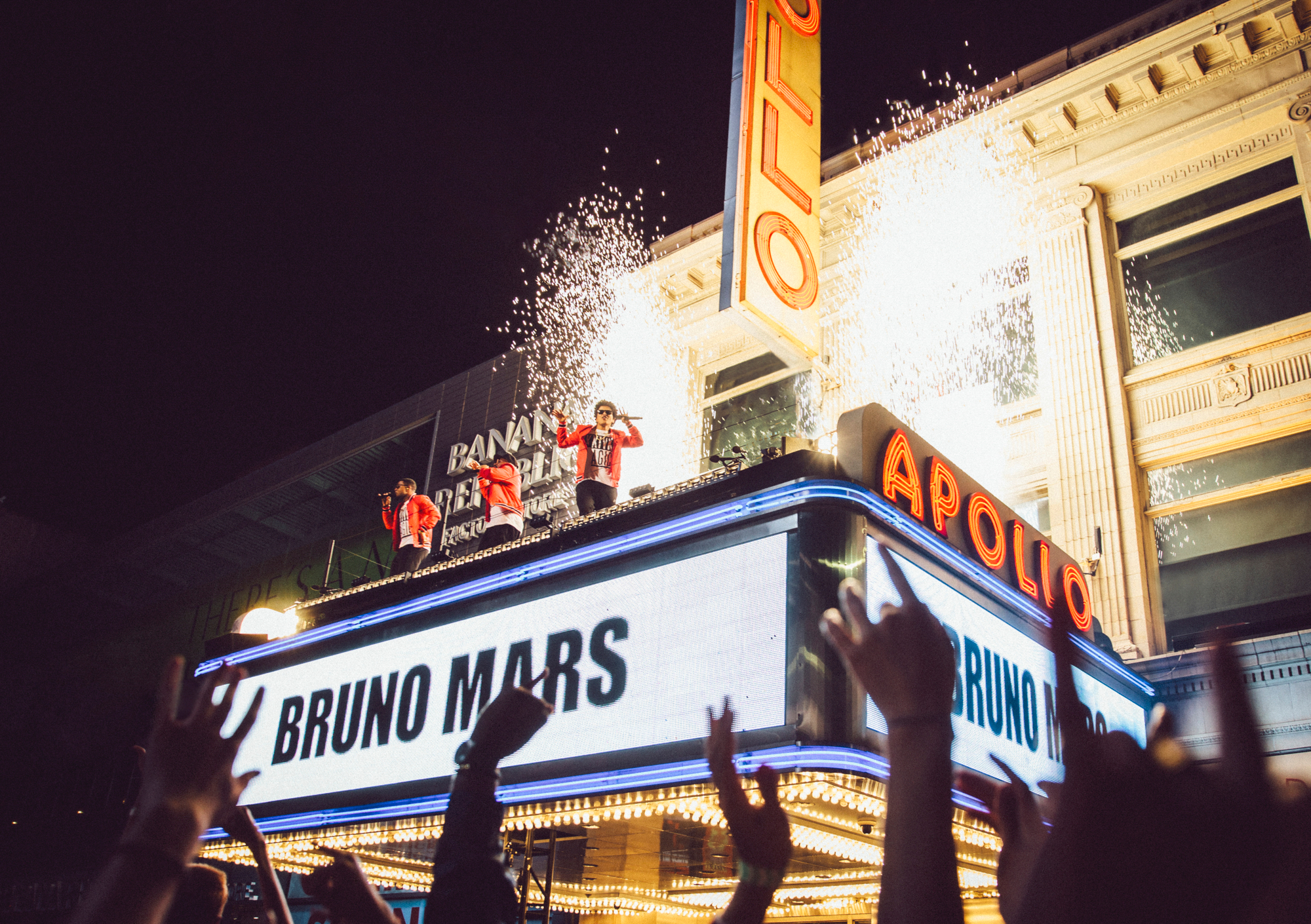 bruno mars stage marquee