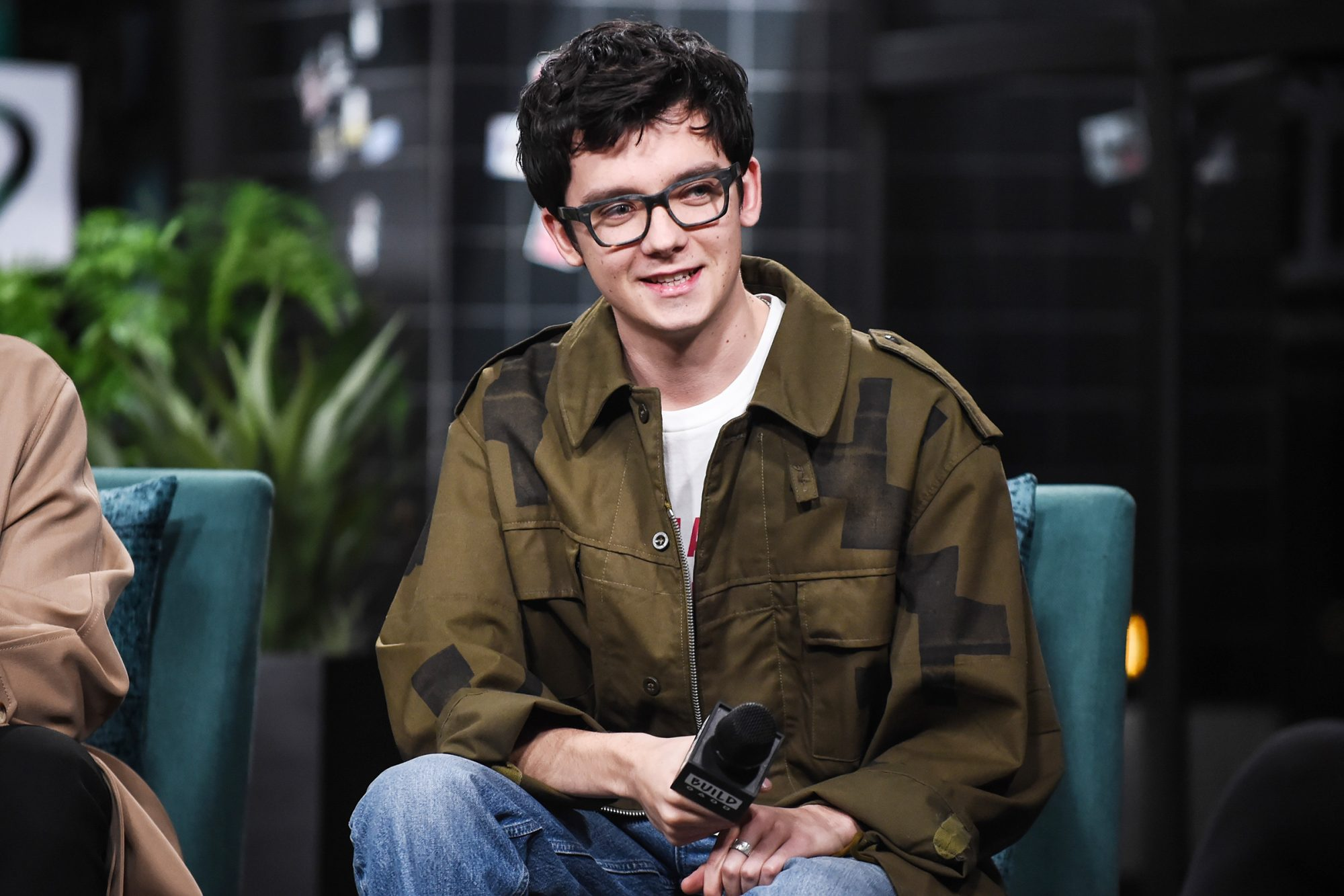 """Asa Butterfield attends the Build Series to discuss the Netflix show """"Sex Education"""" at Build Studio on November 12, 2019 in New York City"""
