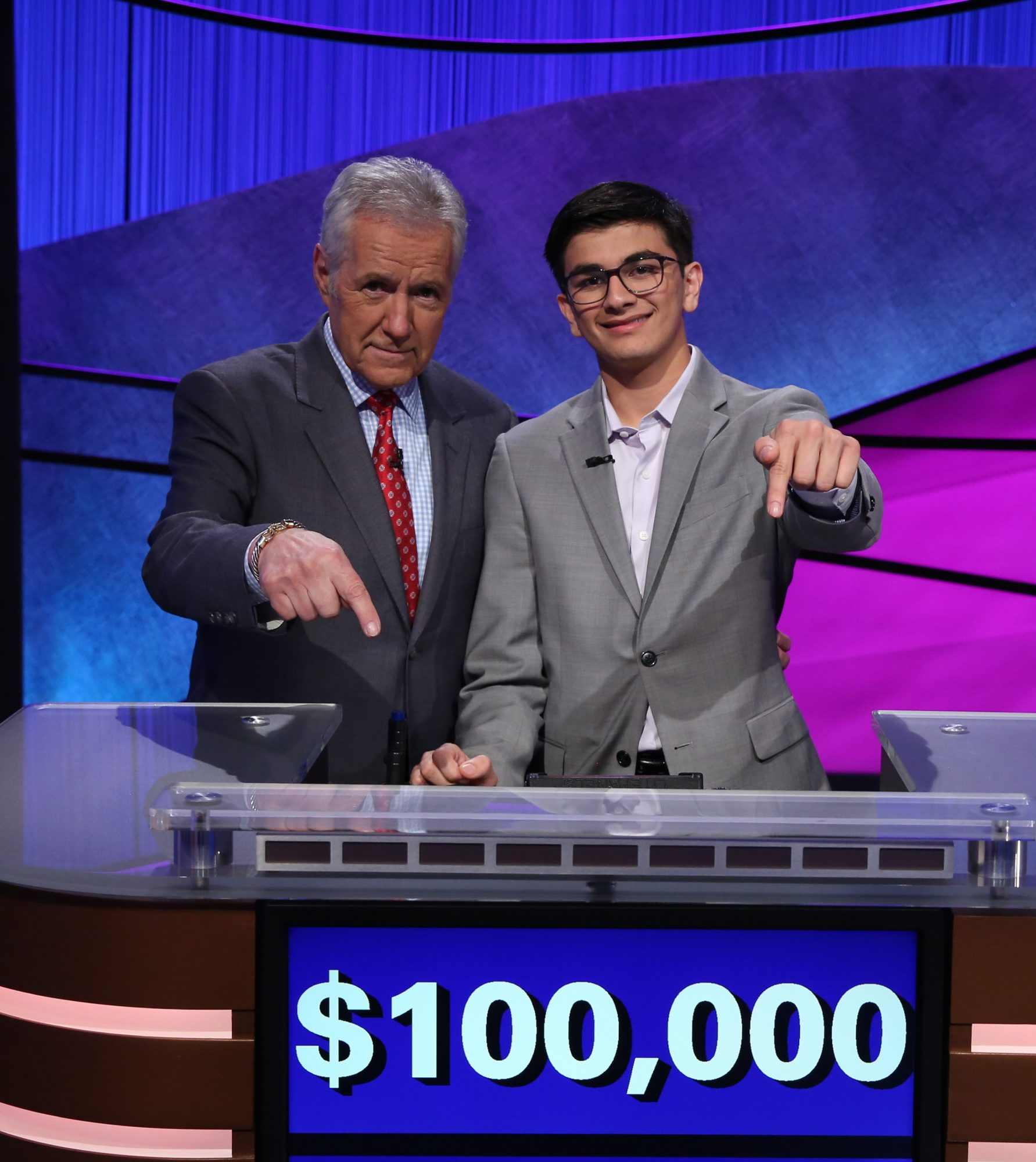 Avi Gupta and Alex Trebek