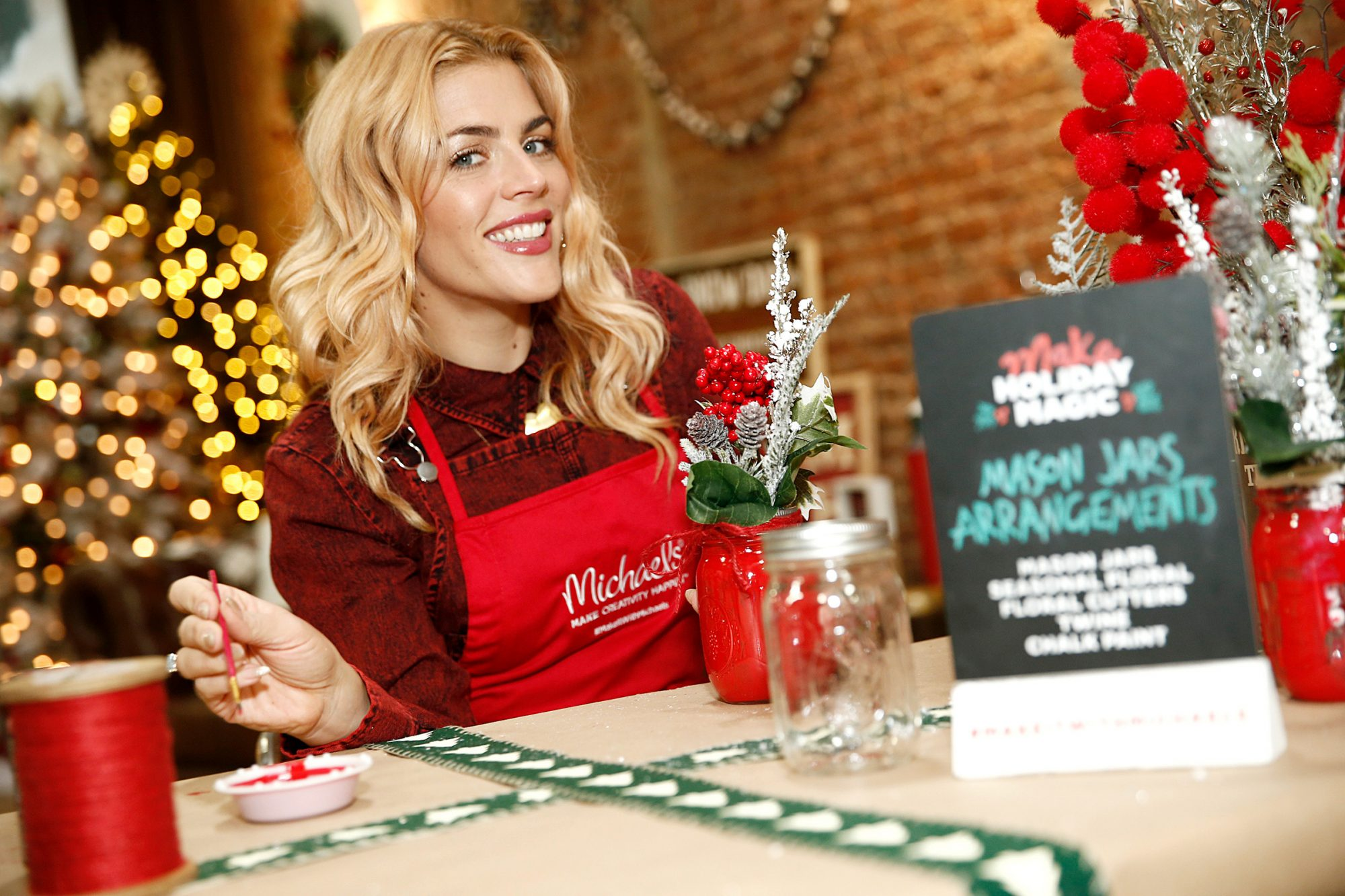 Busy Philipps host Holiday Crafternoon on November 12, 2019 in New York City.