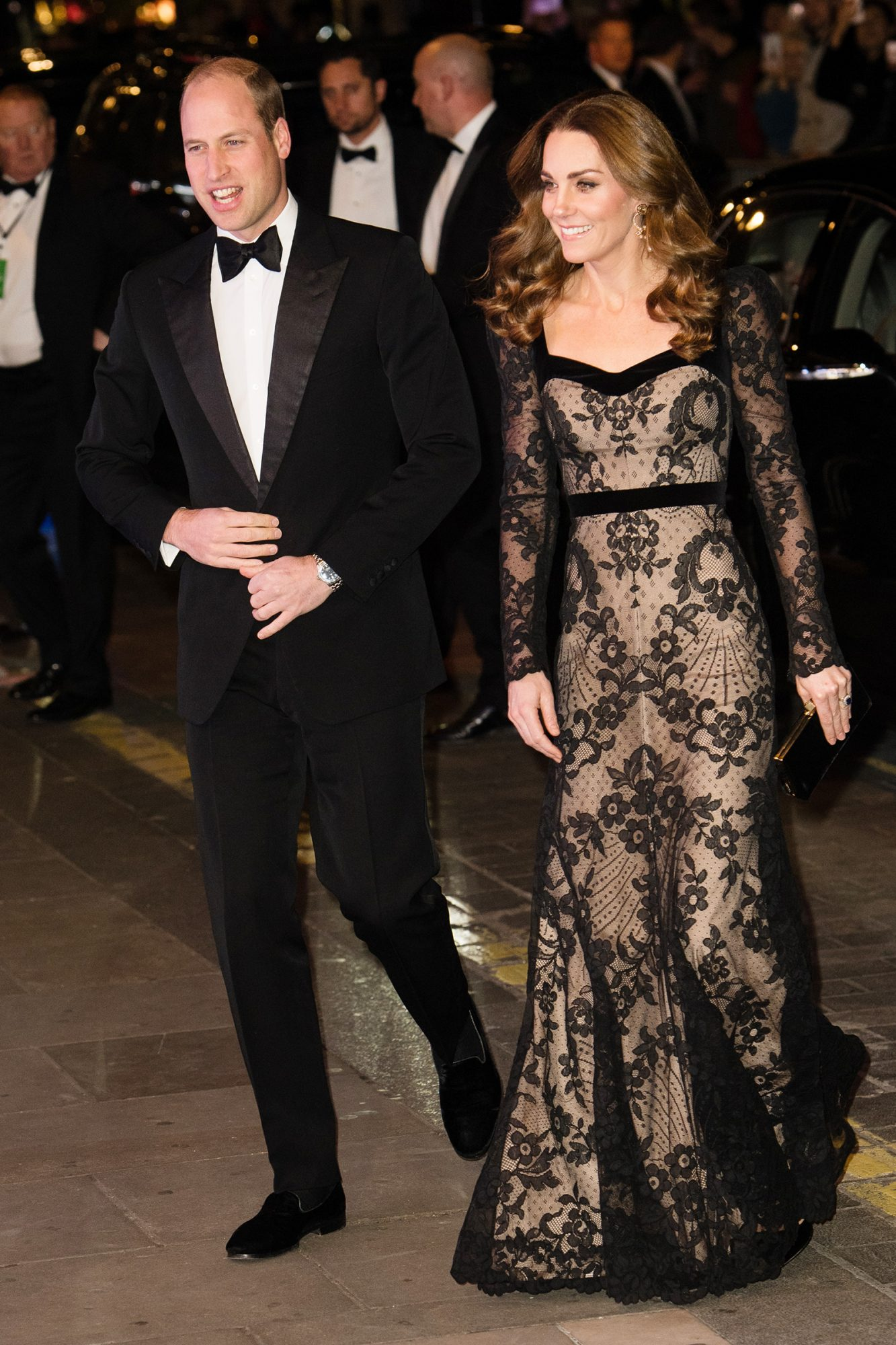 Catherine Duchess of Cambridge and Prince William at The Royal Variety Performance, Arrivals, London Palladium, UK - 18 Nov 2019
