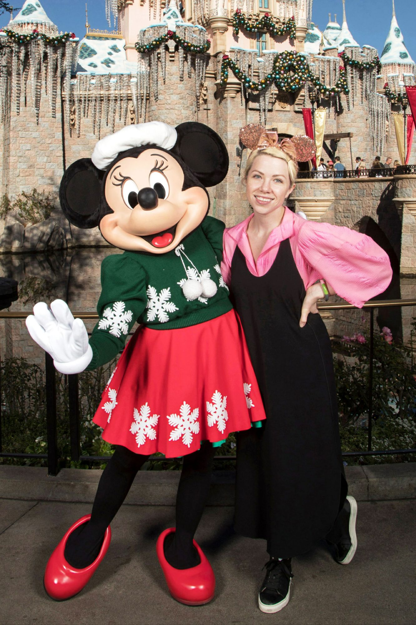 Carly Rae Jepsen with Minnie Mouse at Disneyland Park