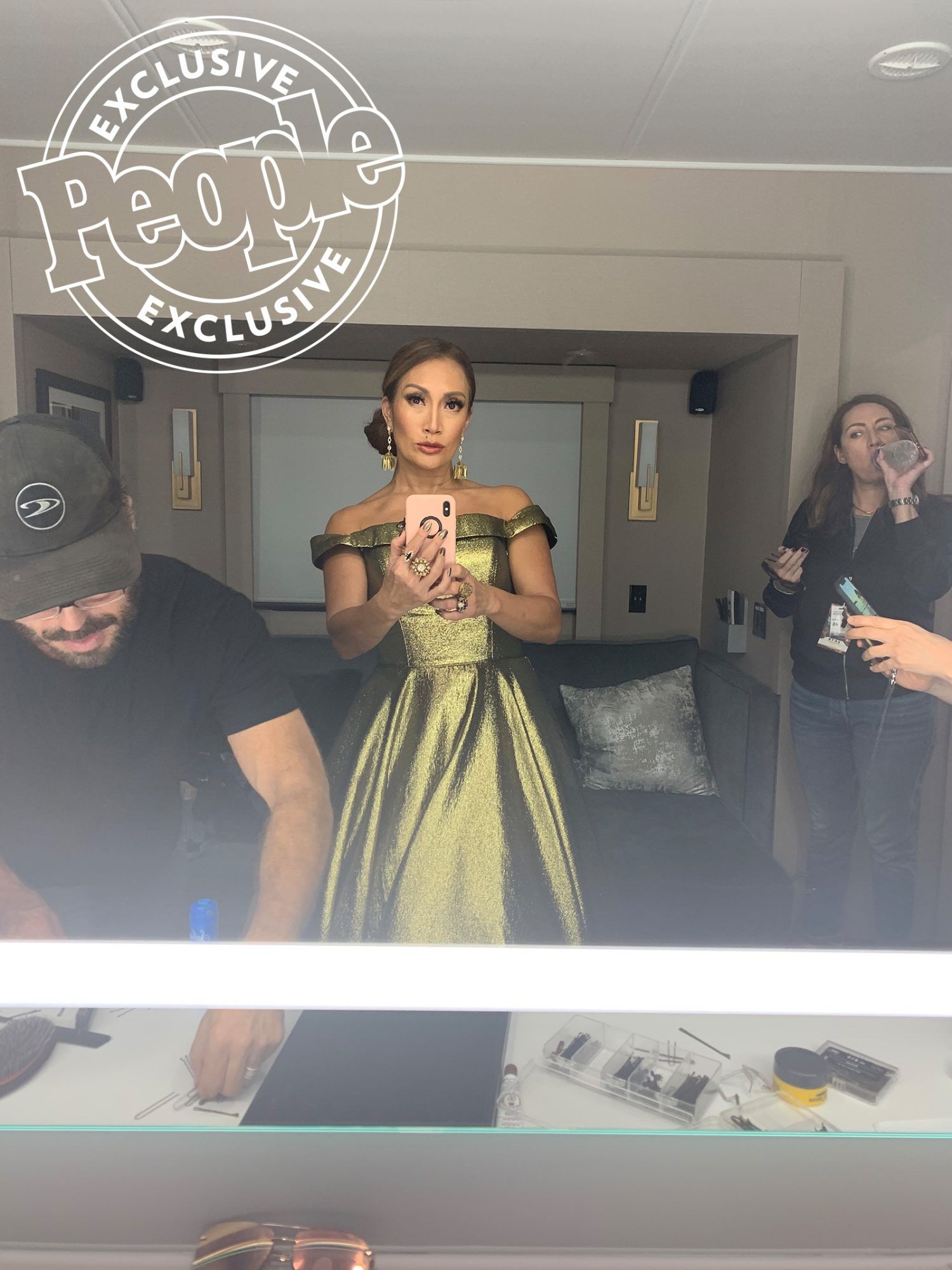 Carrie Ann Inaba getting ready for Dancing with the Stars