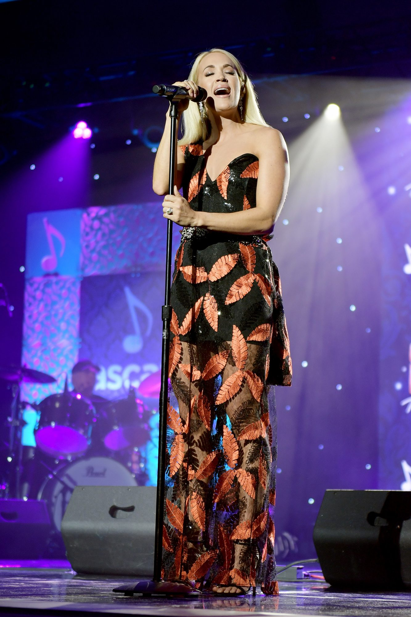 Carrie Underwood performs onstage during the 57th Annual ASCAP Country Music Awards on November 11, 2019 in Nashville, Tennessee