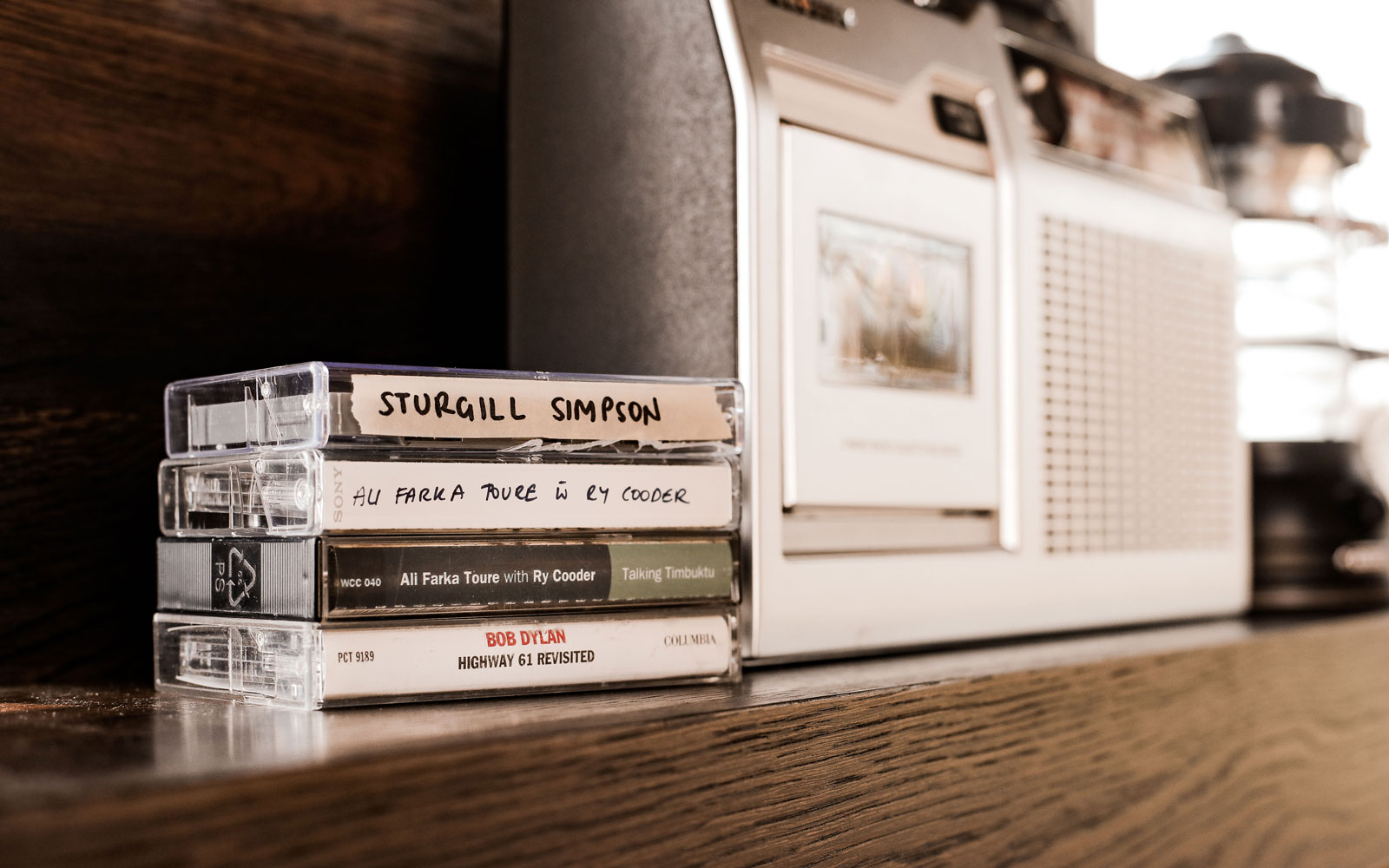 cassette tapes in Matthew McConaughey's cabin