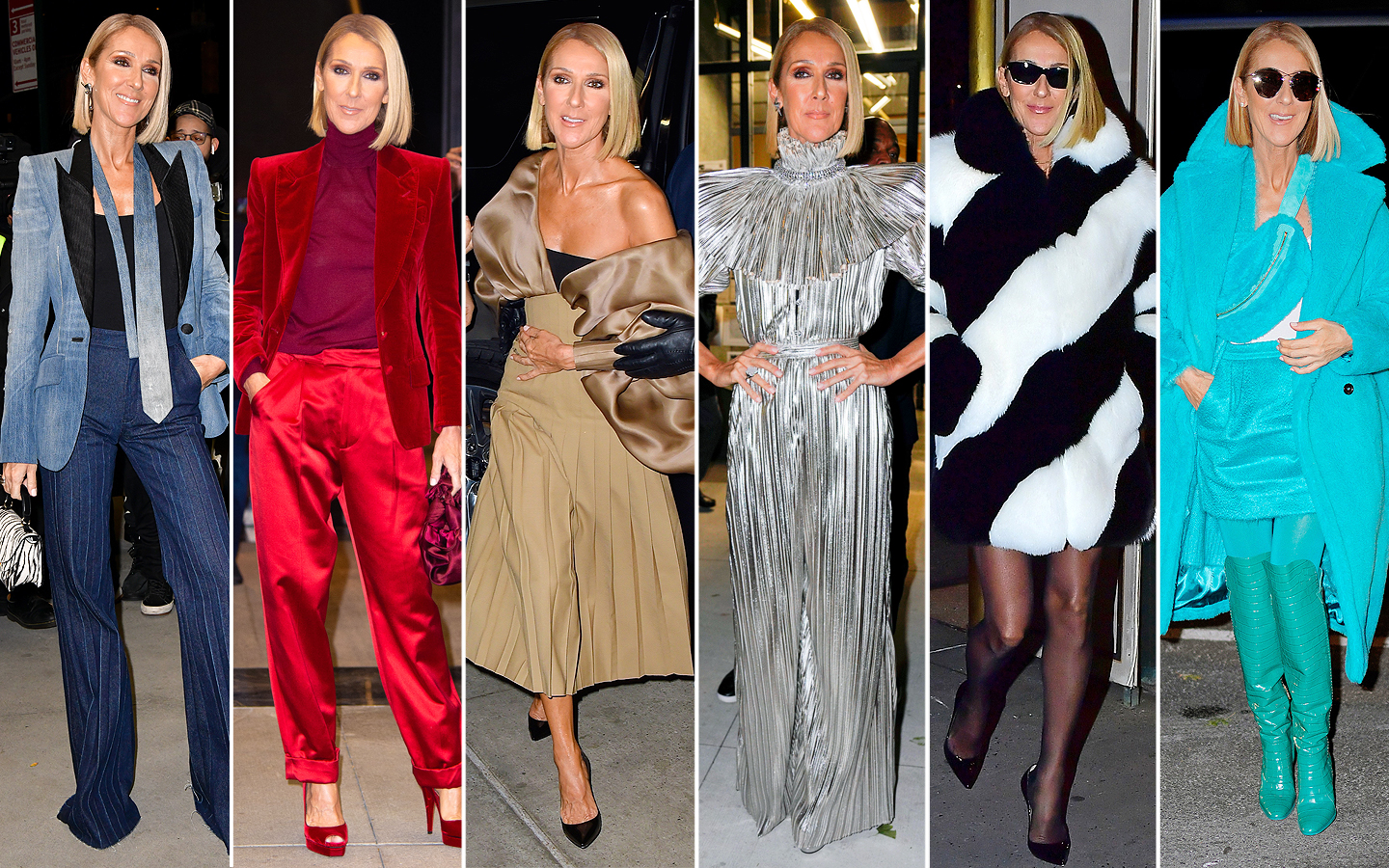Celine Dion outfit changes