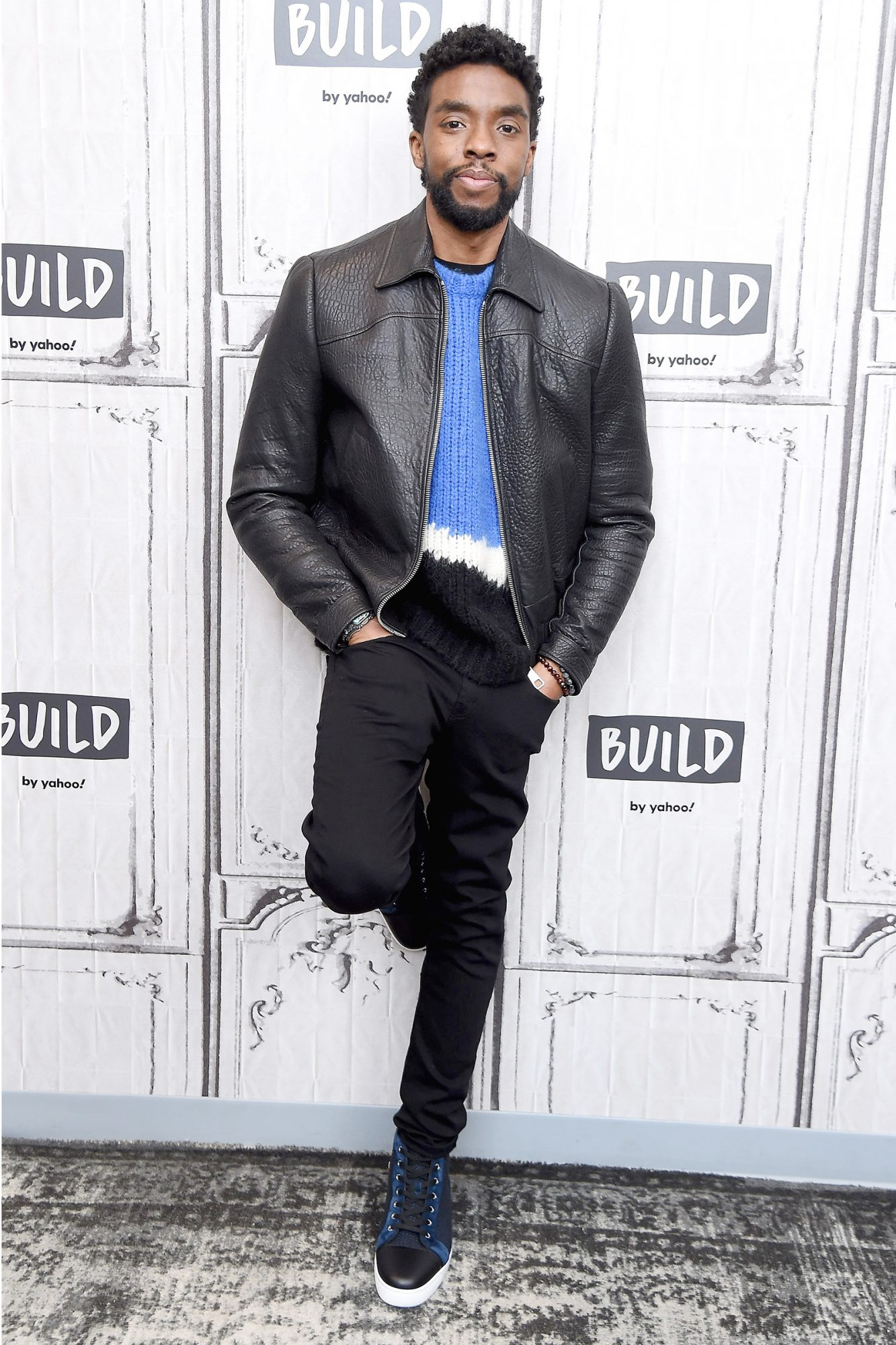 Chadwick Boseman visits the Build Series to discuss the film 21 Bridges at Build Studio on November 20, 2019 in New York City