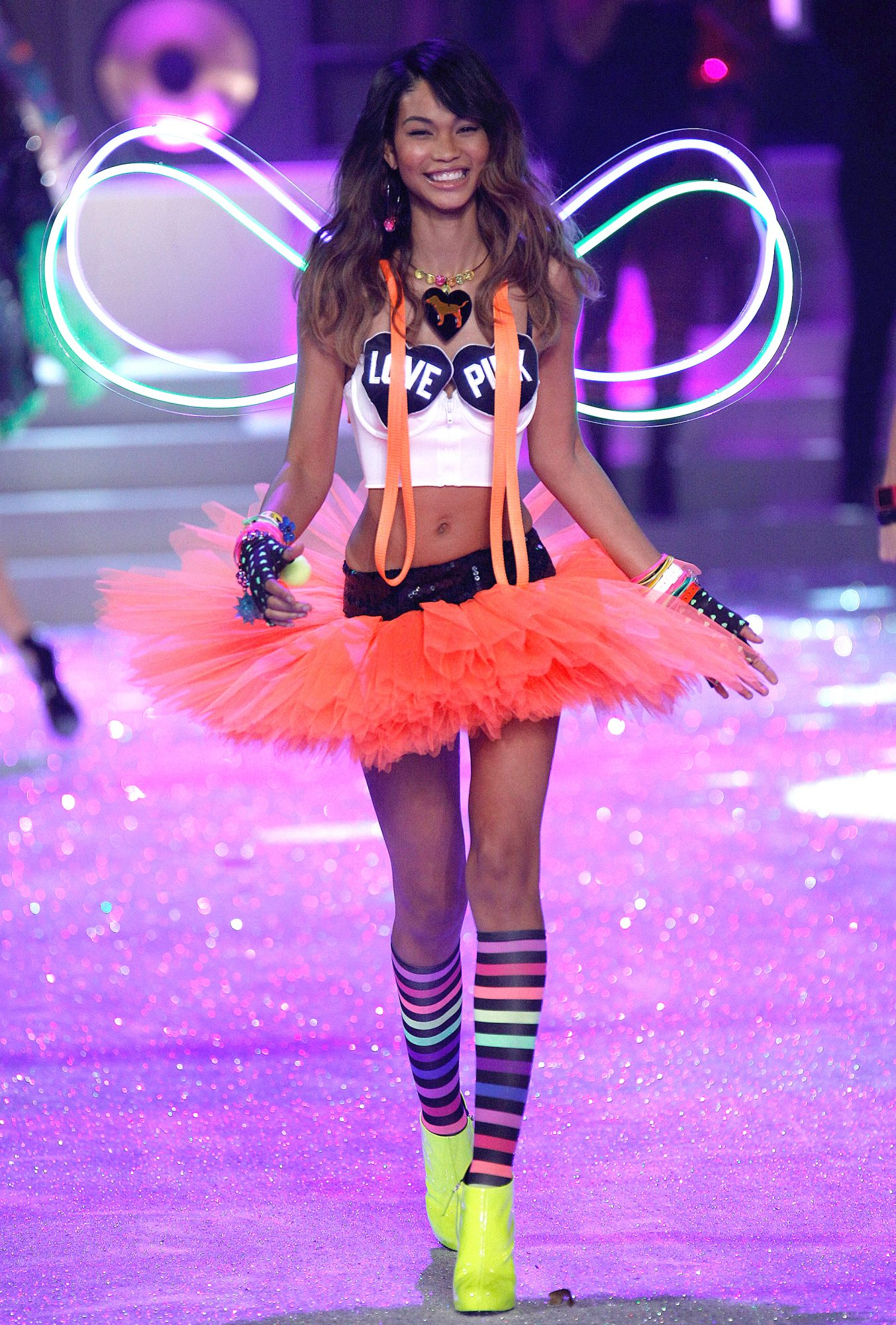 Model Chanel Iman walks the runway during the 2011 Victoria's Secret Fashion Show