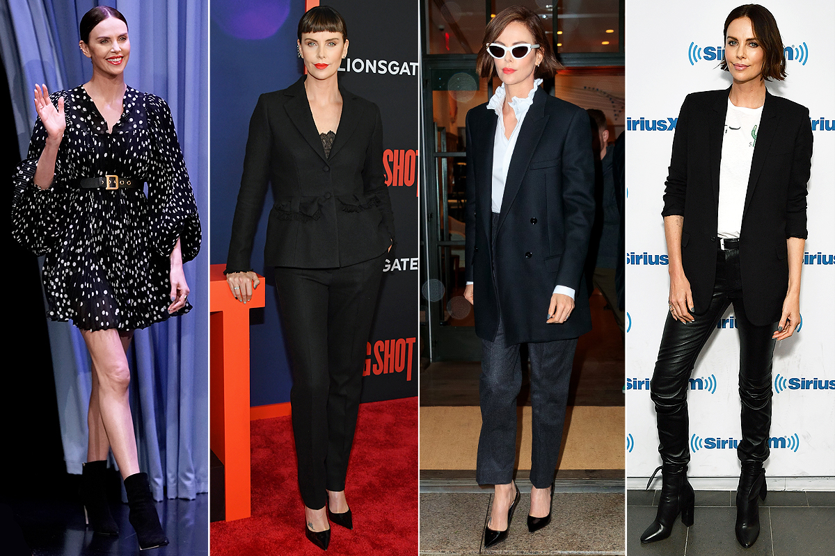 charlize theron outfit changes