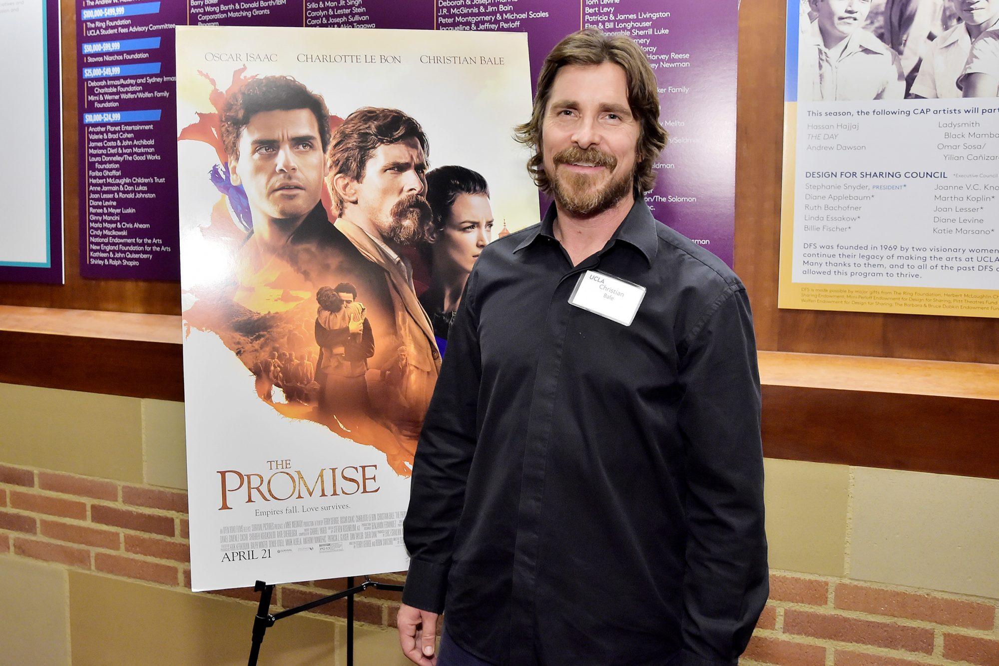 Christian Bale attends The Promise Armenian Institute Event At UCLA at Royce Hall on November 19, 2019 in Los Angeles, California
