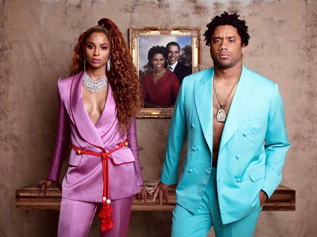 Ciara and Russell Wilson dressed as Beyonce and Jay-Z for Halloween