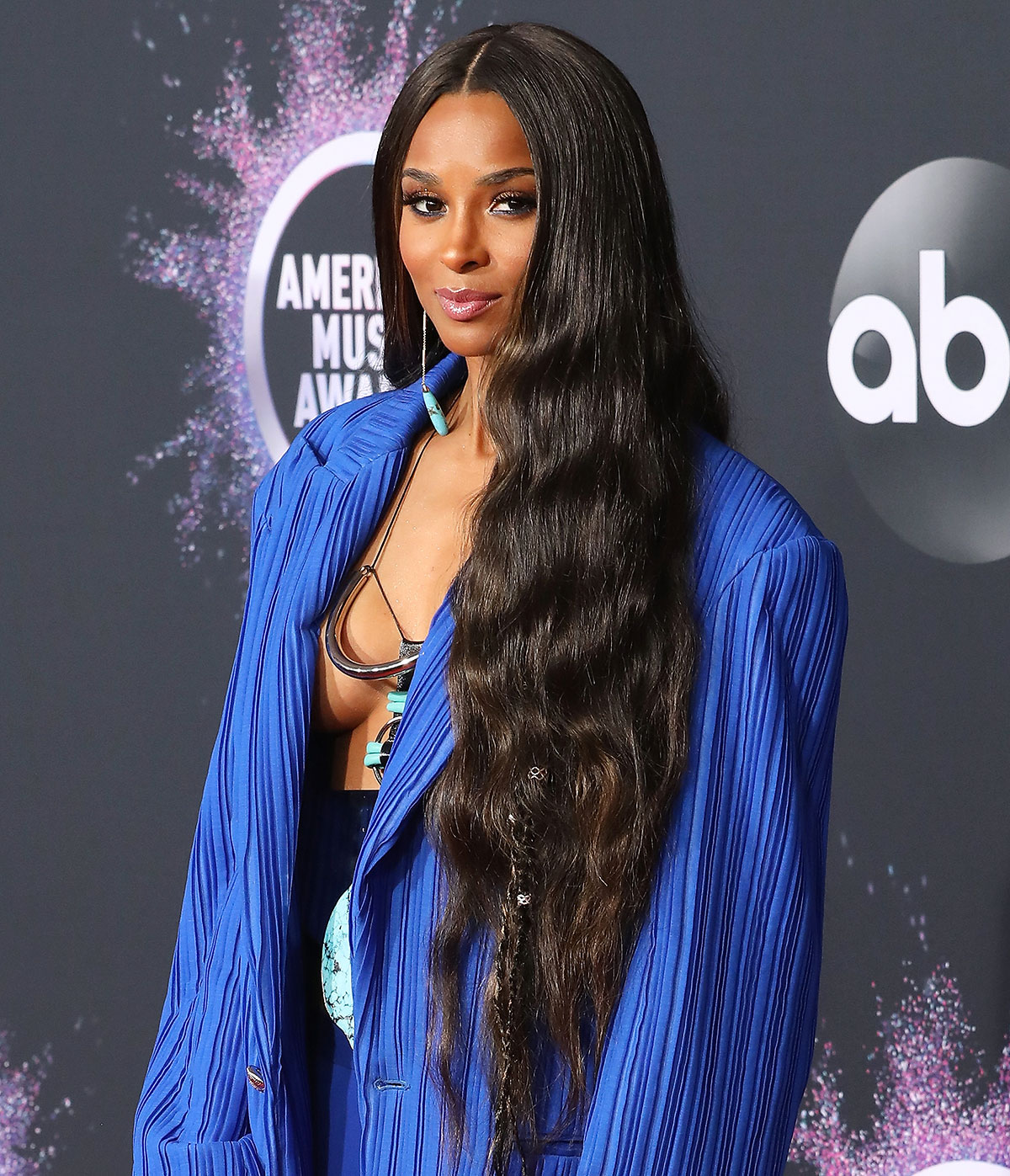 LOS ANGELES, CALIFORNIA - NOVEMBER 24: Ciara during the 2019 American Music Awards at Microsoft Theater on November 24, 2019 in Los Angeles, California.