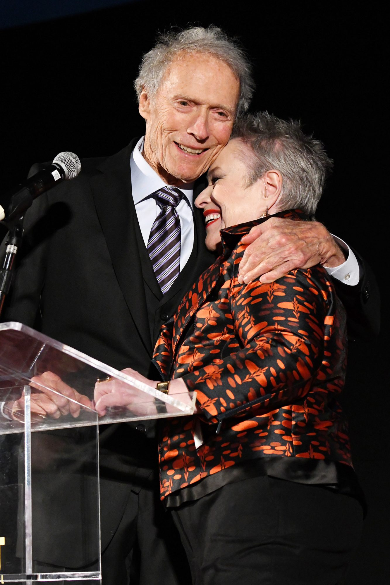 """Clint Eastwood and Kathy Bates attend the """"Richard Jewell"""" premiere during AFI FEST 2019 Presented By Audi at TCL Chinese Theatre on November 20, 2019 in Hollywood, California"""