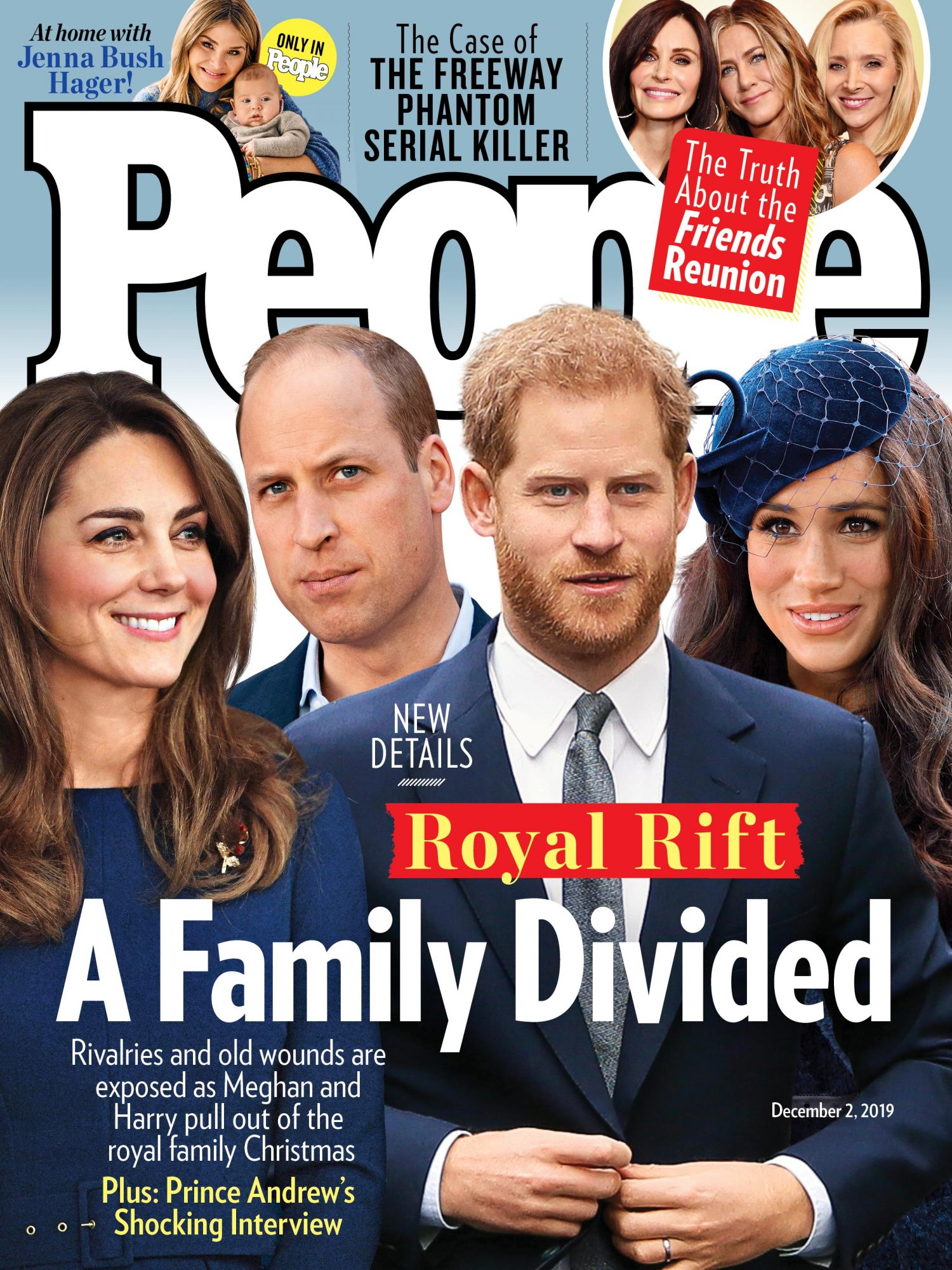 12/2/2019 cover of people featuring the royal family with the headline a family divided
