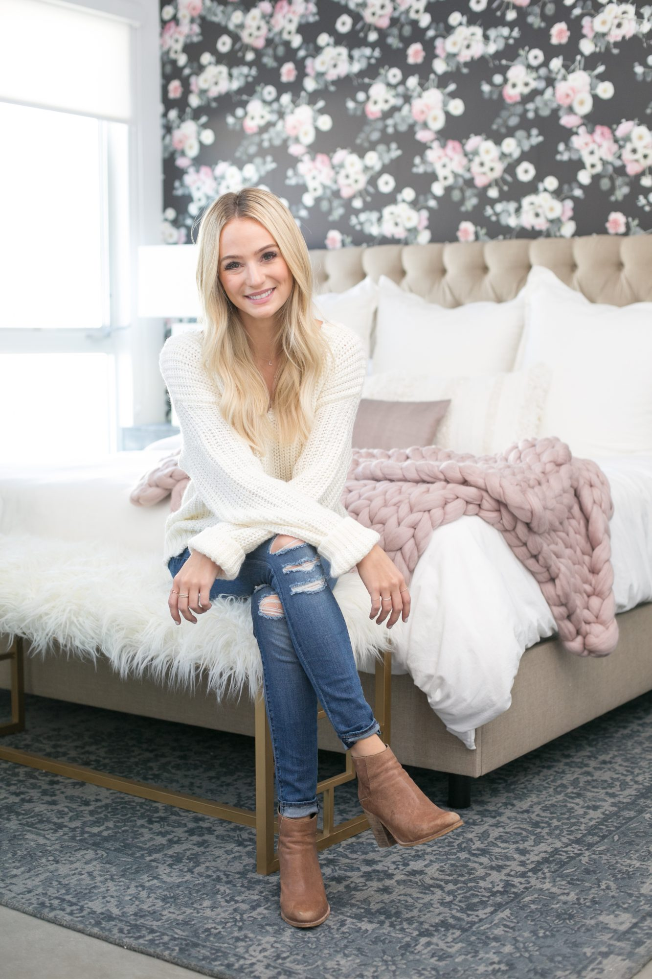 Lauren Bushnell's Knit Throw Blanket