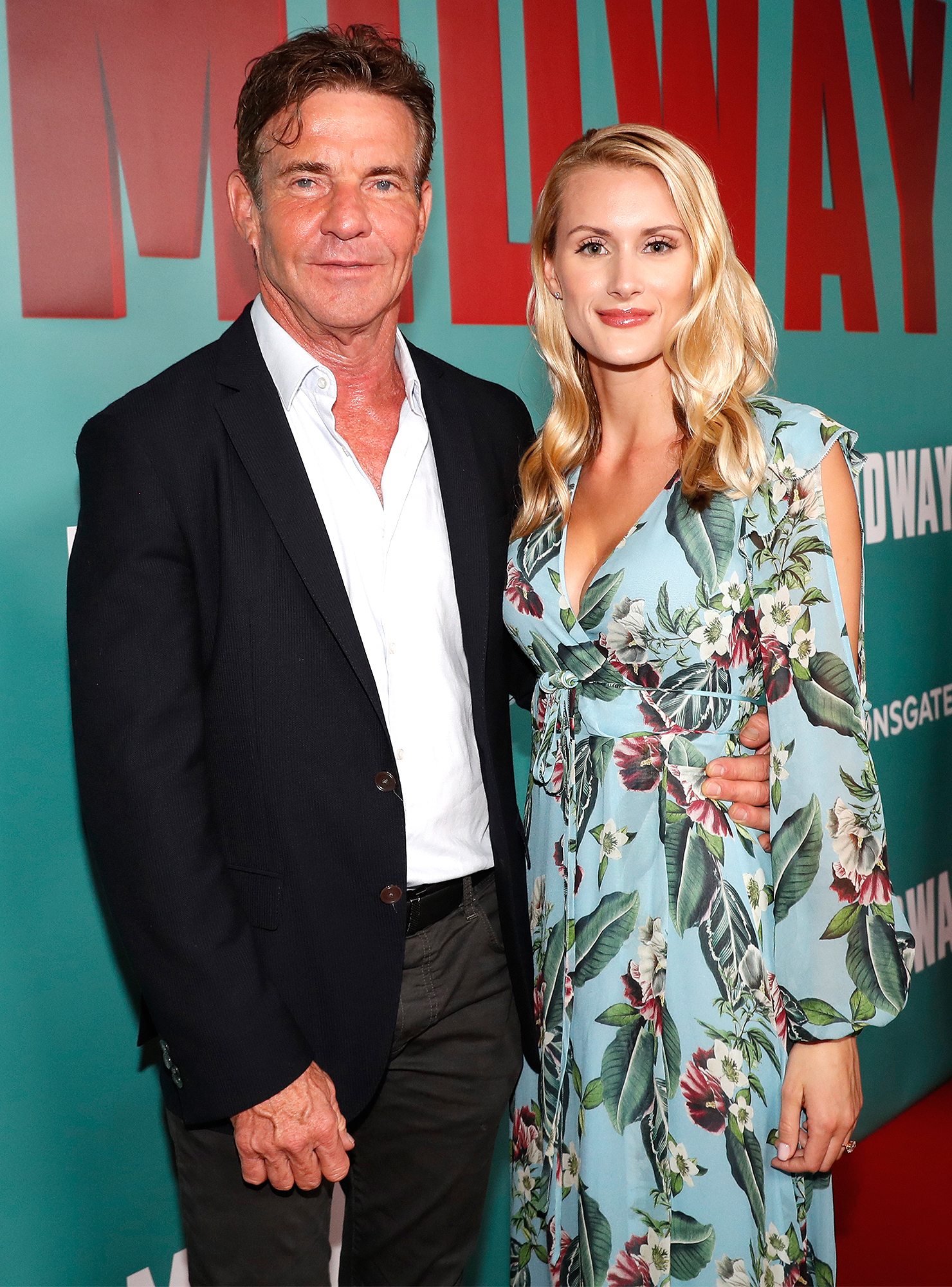 Dennis Quaid and fiancee Laura Savoie